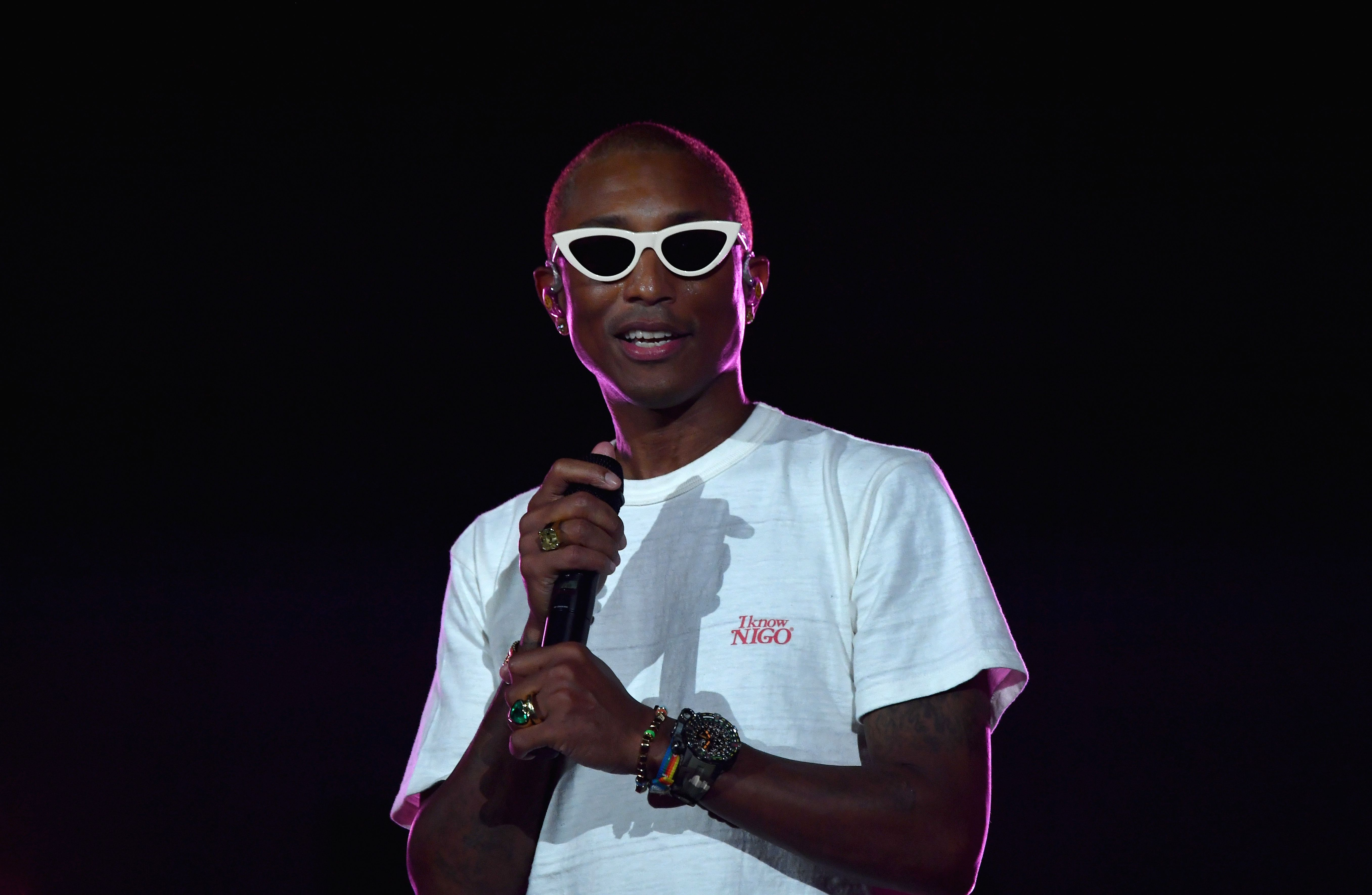 US singer Pharrell performs onstage at the 2019 Global Citizen Festival: Power The Movement in Central Park in New York on September 28, 2019. (Photo by Angela Weiss / AFP)        (Photo credit should read ANGELA WEISS/AFP/Getty Images)