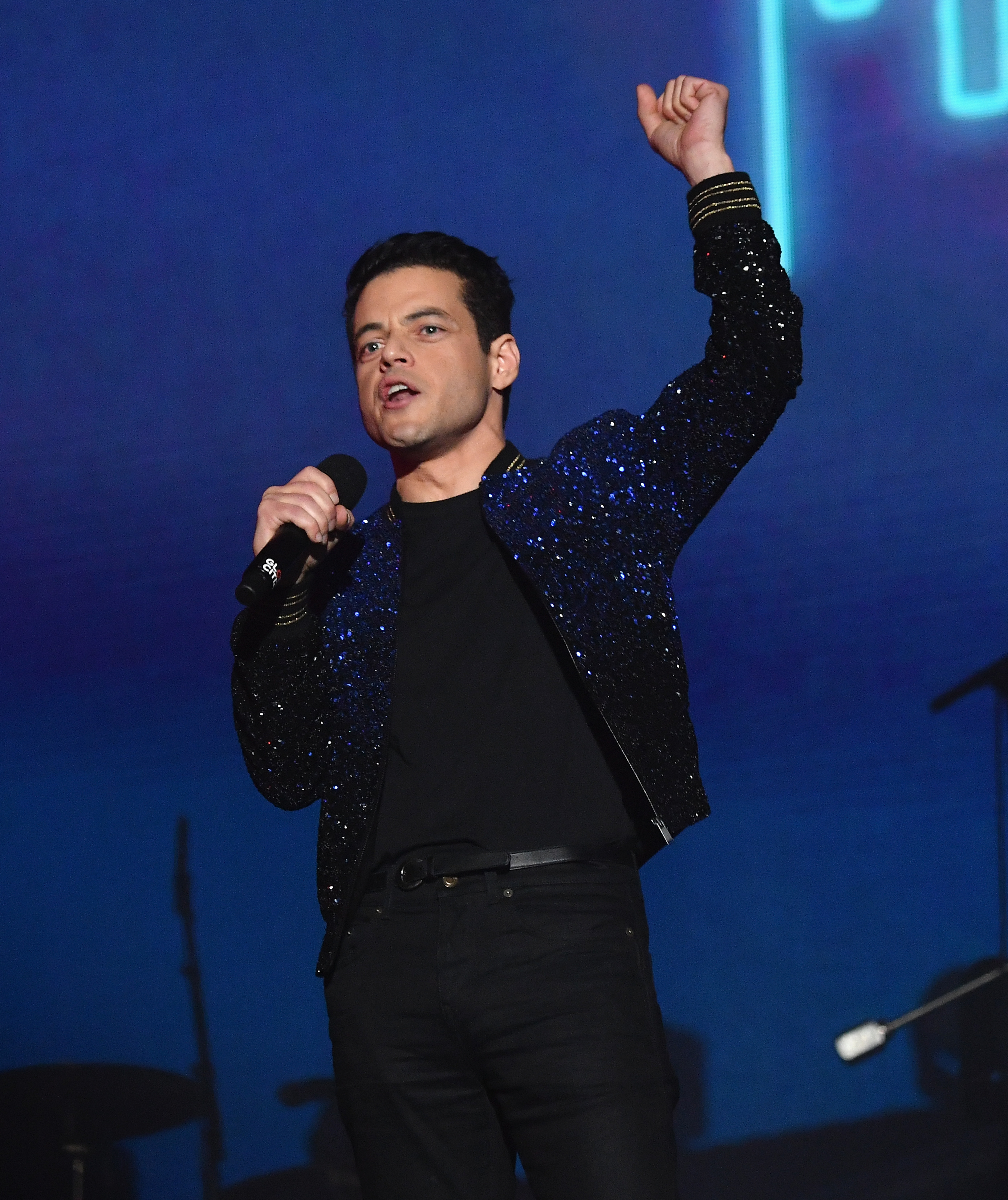 US actor Rami Malek speaks onstage at the 2019 Global Citizen Festival: Power The Movement in Central Park in New York on September 28, 2019. (Photo by Angela Weiss / AFP)        (Photo credit should read ANGELA WEISS/AFP/Getty Images)