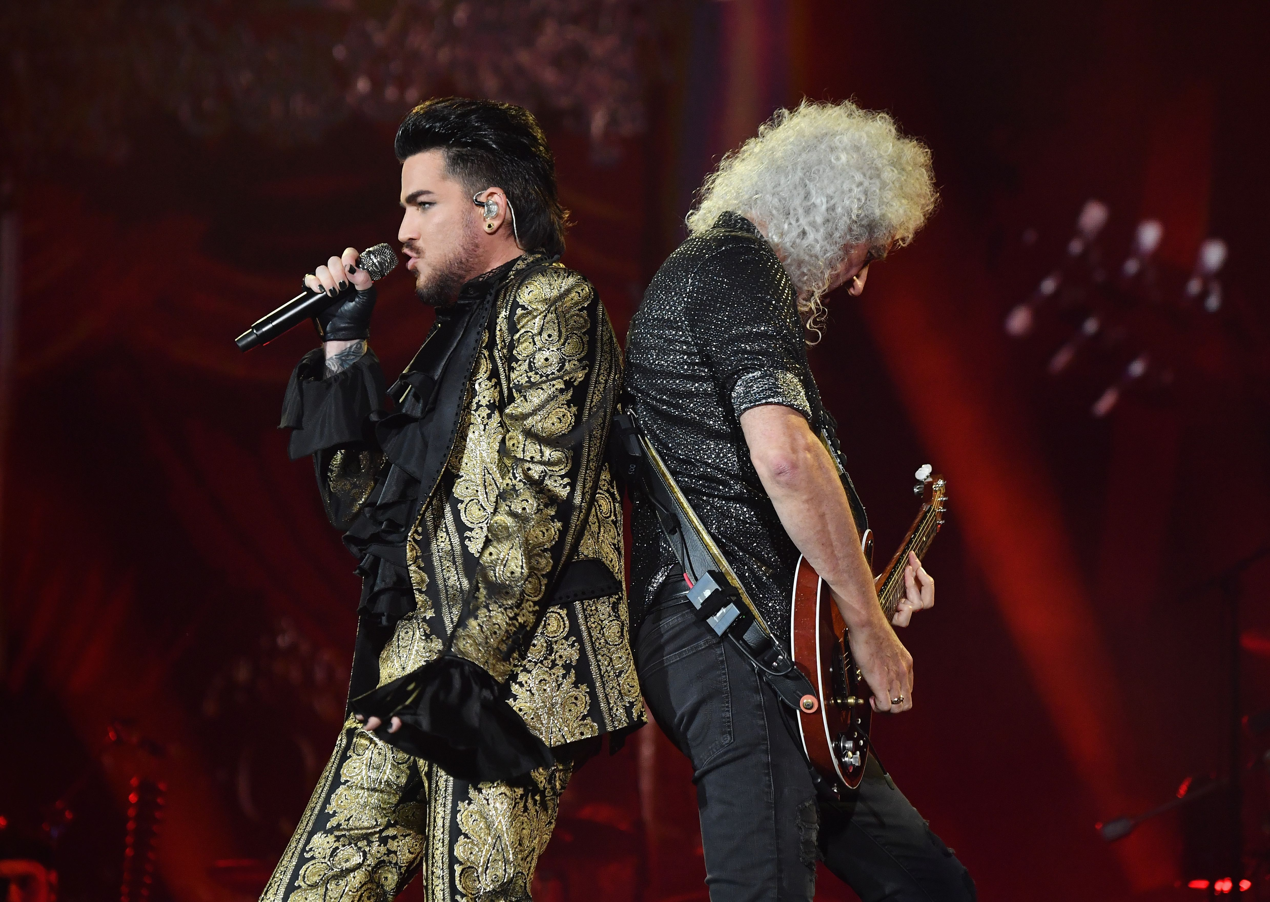 Adam Lambert and Brian May of Queen perform onstage at the 2019 Global Citizen Festival: Power The Movement in Central Park in New York on September 28, 2019. (Photo by Angela Weiss / AFP)        (Photo credit should read ANGELA WEISS/AFP/Getty Images)