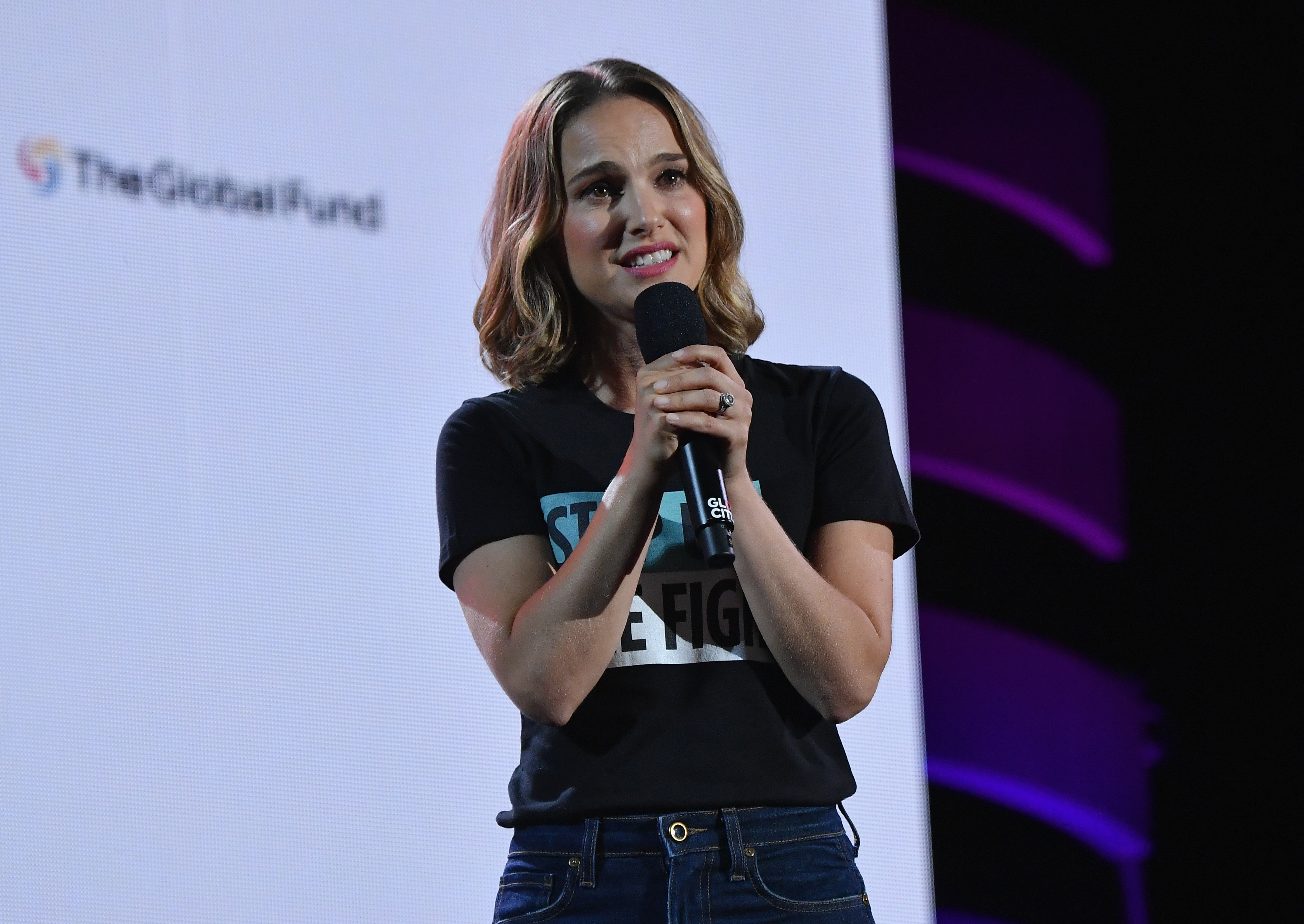 US-Israeli actress Natalie Portman speaks onstage at the 2019 Global Citizen Festival: Power The Movement in Central Park in New York on September 28, 2019. (Photo by Angela Weiss / AFP)        (Photo credit should read ANGELA WEISS/AFP/Getty Images)