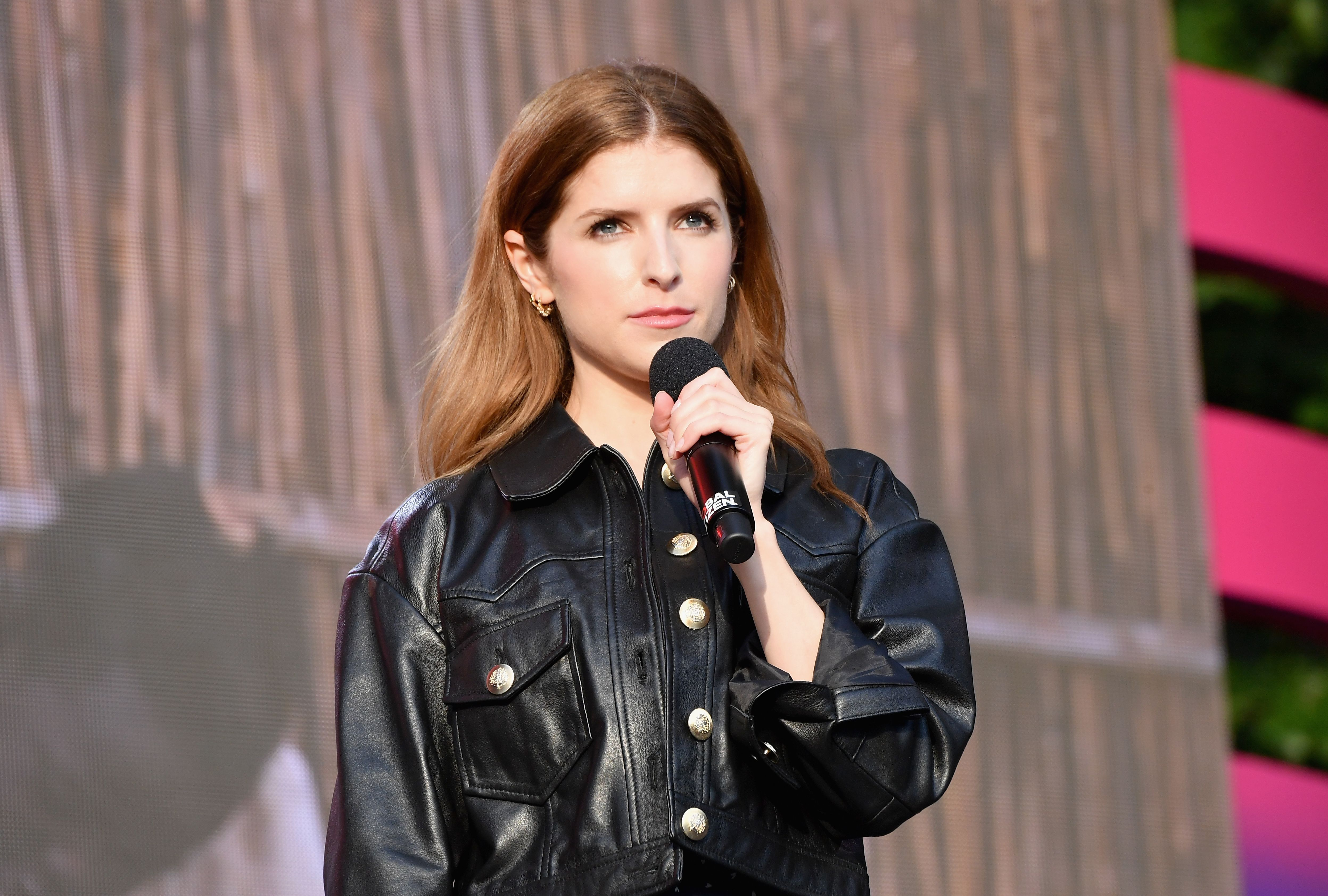 US actress Anna Kendrick speaks onstage at the 2019 Global Citizen Festival: Power The Movement in Central Park in New York on September 28, 2019. (Photo by Angela Weiss / AFP)        (Photo credit should read ANGELA WEISS/AFP/Getty Images)