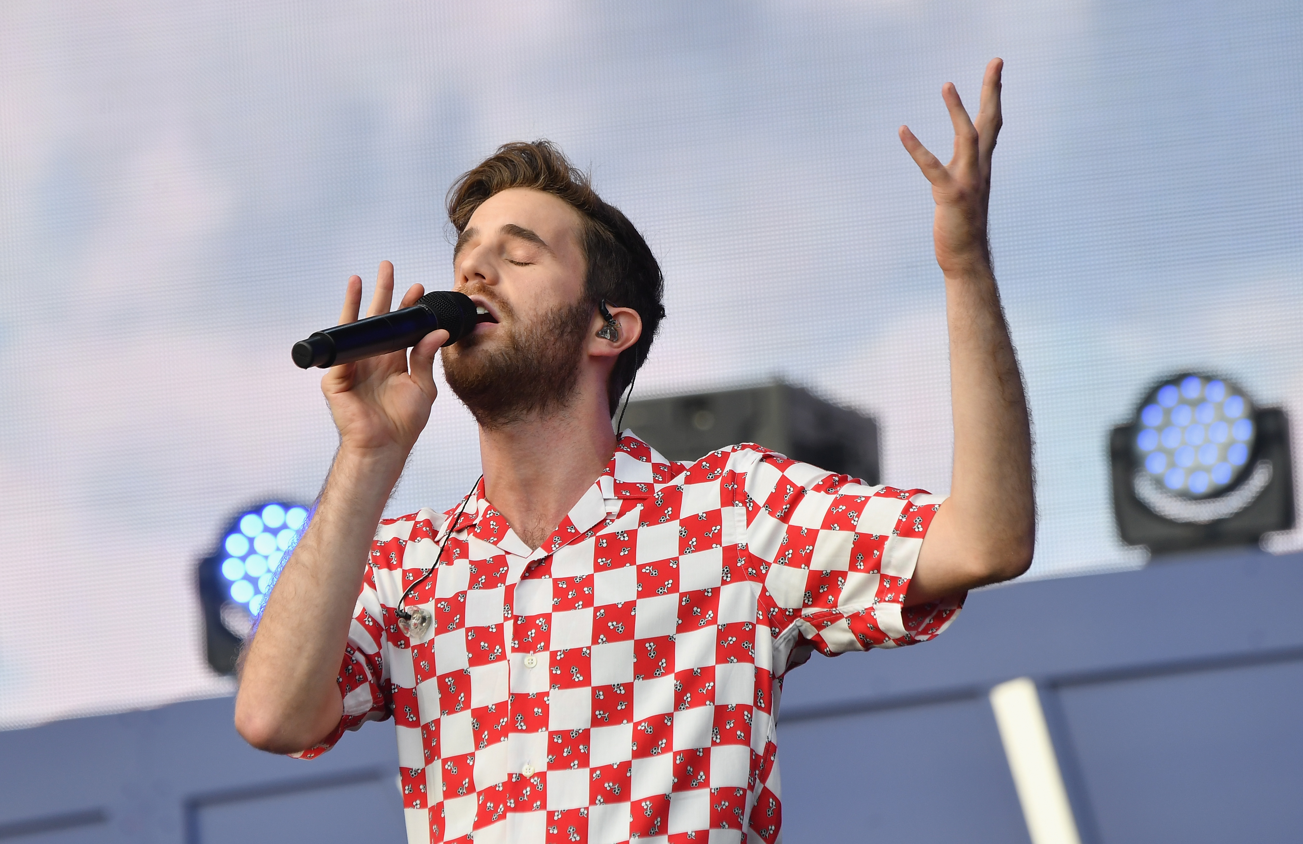 US actor and singer Ben Platt performs onstage at the 2019 Global Citizen Festival: Power The Movement in Central Park in New York on September 28, 2019. (Photo by Angela Weiss / AFP)        (Photo credit should read ANGELA WEISS/AFP/Getty Images)