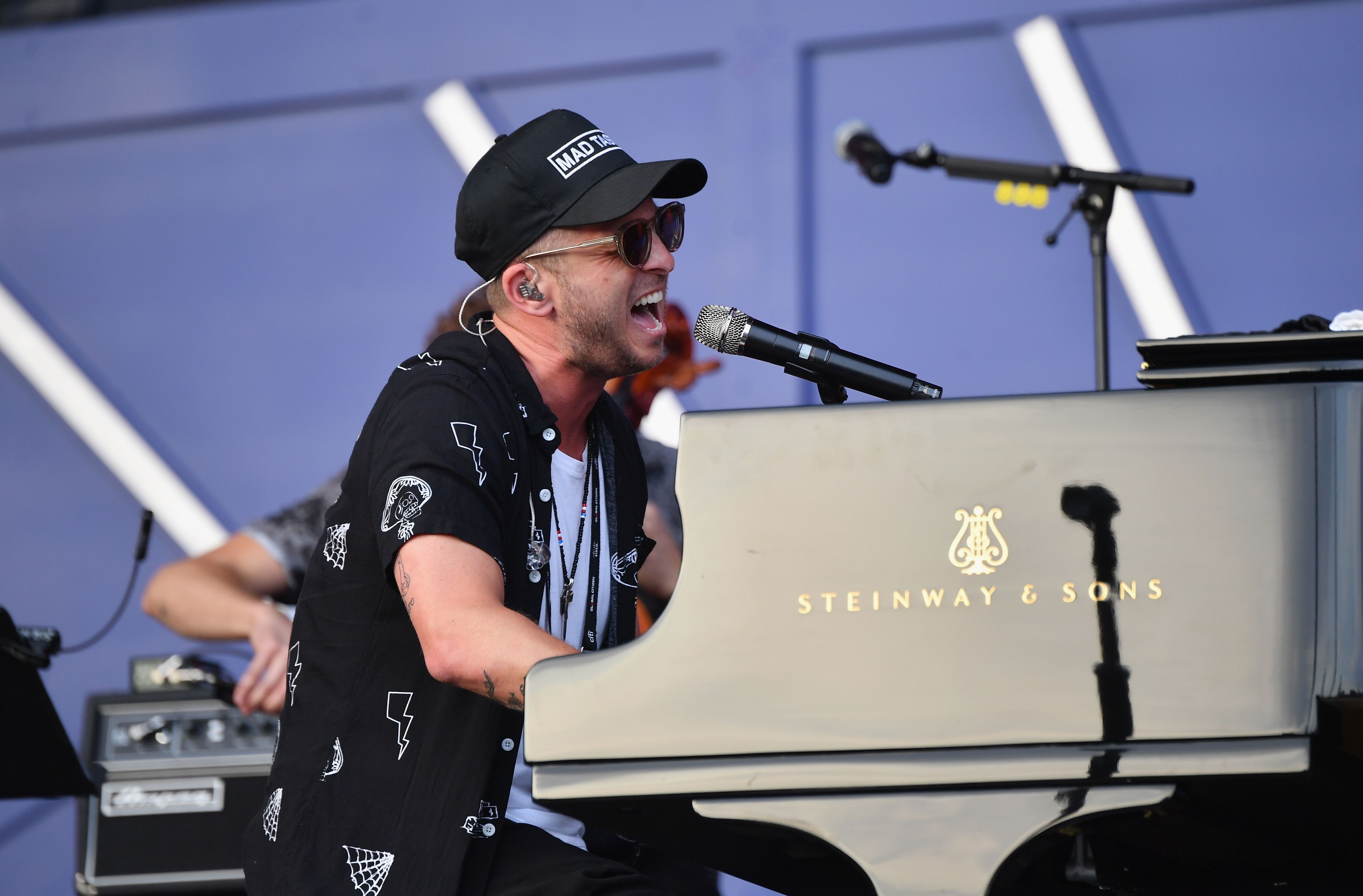 US singer Ryan Tedder of OneRepublic performs onstage at the 2019 Global Citizen Festival: Power The Movement in Central Park in New York on September 28, 2019. (Photo by Angela Weiss / AFP)        (Photo credit should read ANGELA WEISS/AFP/Getty Images)