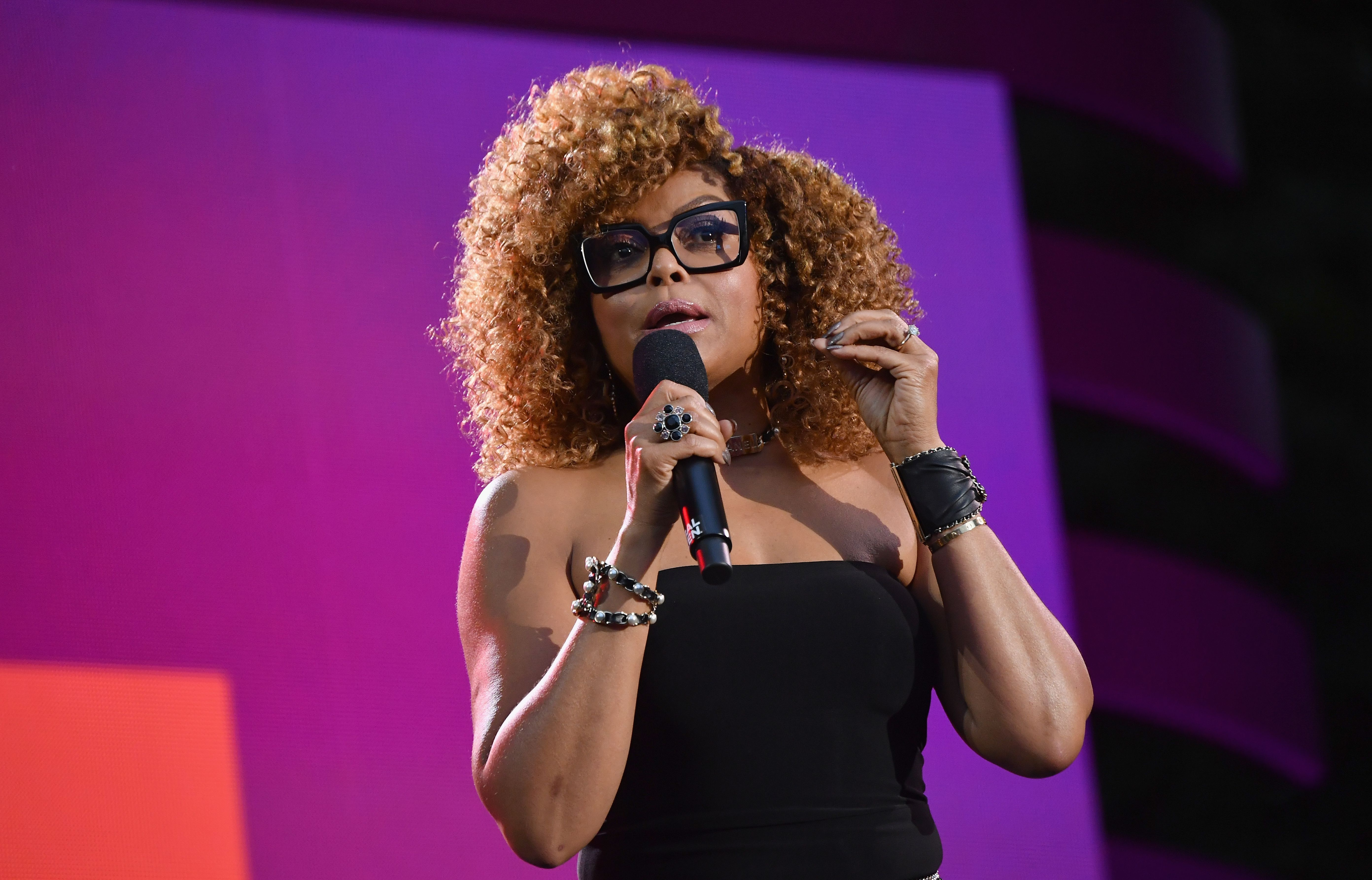 US actress Taraji P. Henson speaks onstage at the 2019 Global Citizen Festival: Power The Movement in Central Park in New York on September 28, 2019. (Photo by Angela Weiss / AFP)        (Photo credit should read ANGELA WEISS/AFP/Getty Images)