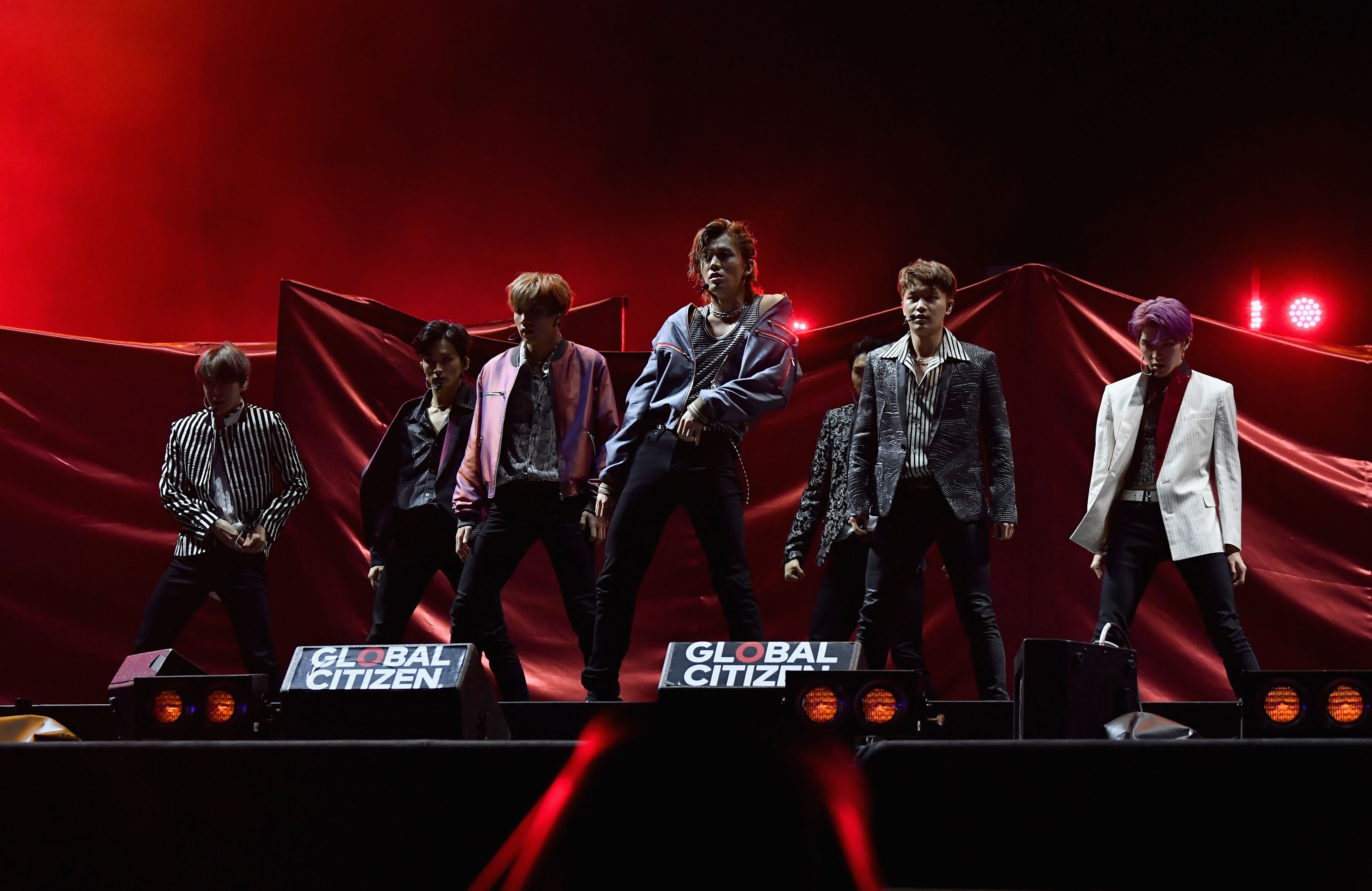 South Korean boy band NCT 127 perform onstage at the 2019 Global Citizen Festival: Power The Movement in Central Park in New York on September 28, 2019. (Photo by Angela Weiss / AFP)        (Photo credit should read ANGELA WEISS/AFP/Getty Images)