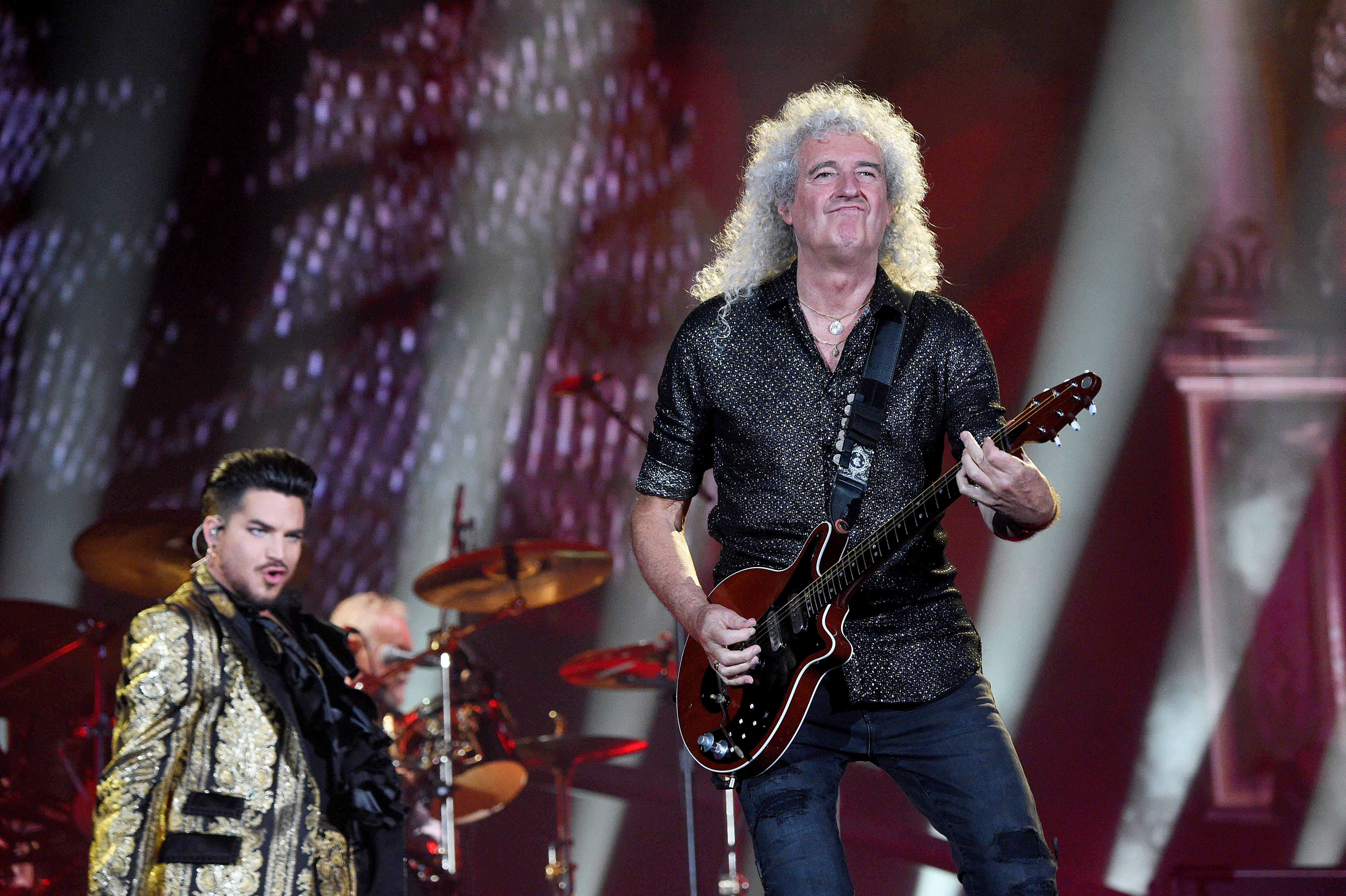 NEW YORK, NEW YORK - SEPTEMBER 28: Adam Lambert and Brian May of Queen perform onstage during the 2019 Global Citizen Festival: Power The Movement in Central Park on September 28, 2019 in New York City. (Photo by Kevin Mazur/Getty Images for Global Citizen)
