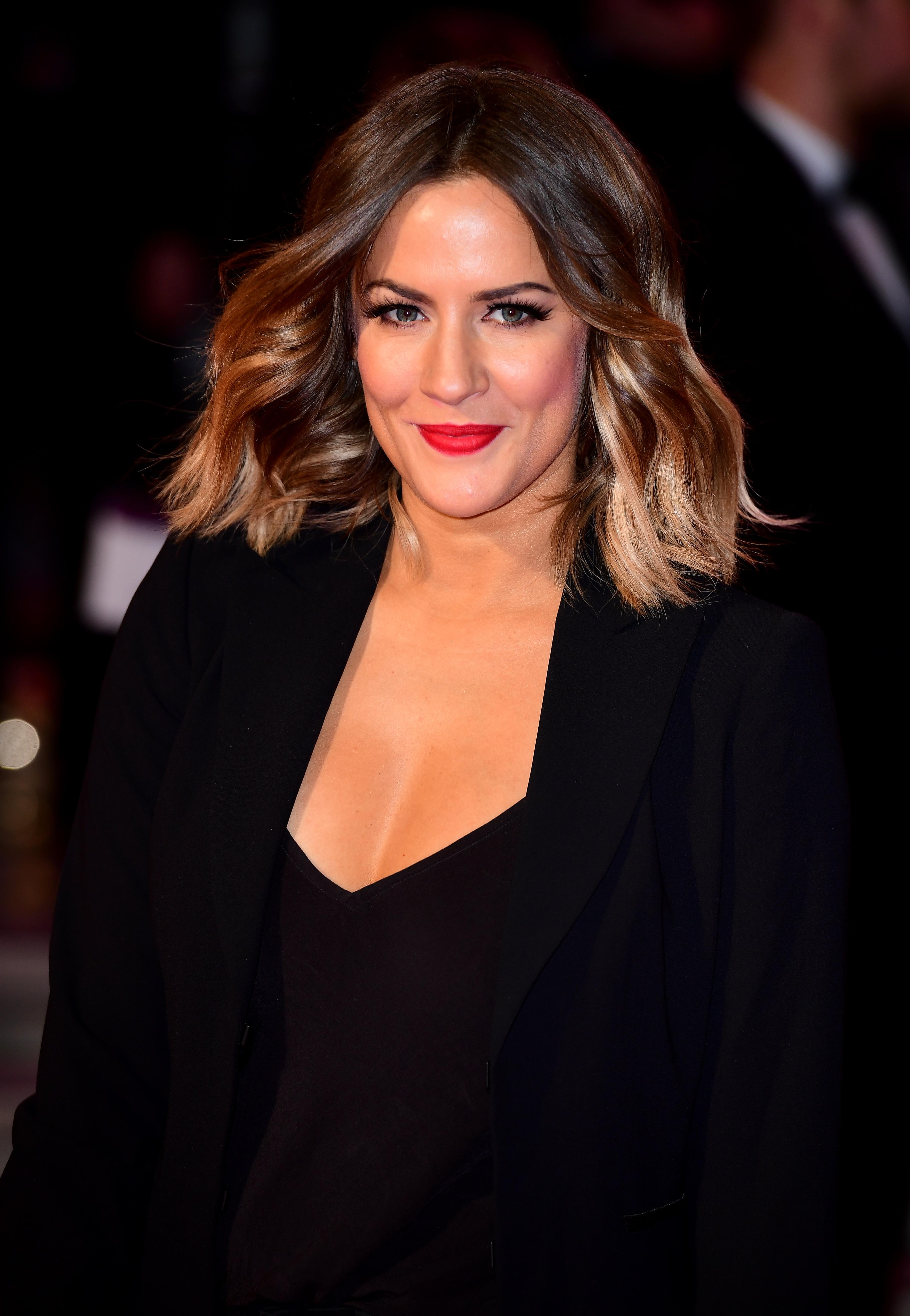 Caroline Flack attending the ITV Gala at the London Palladium.