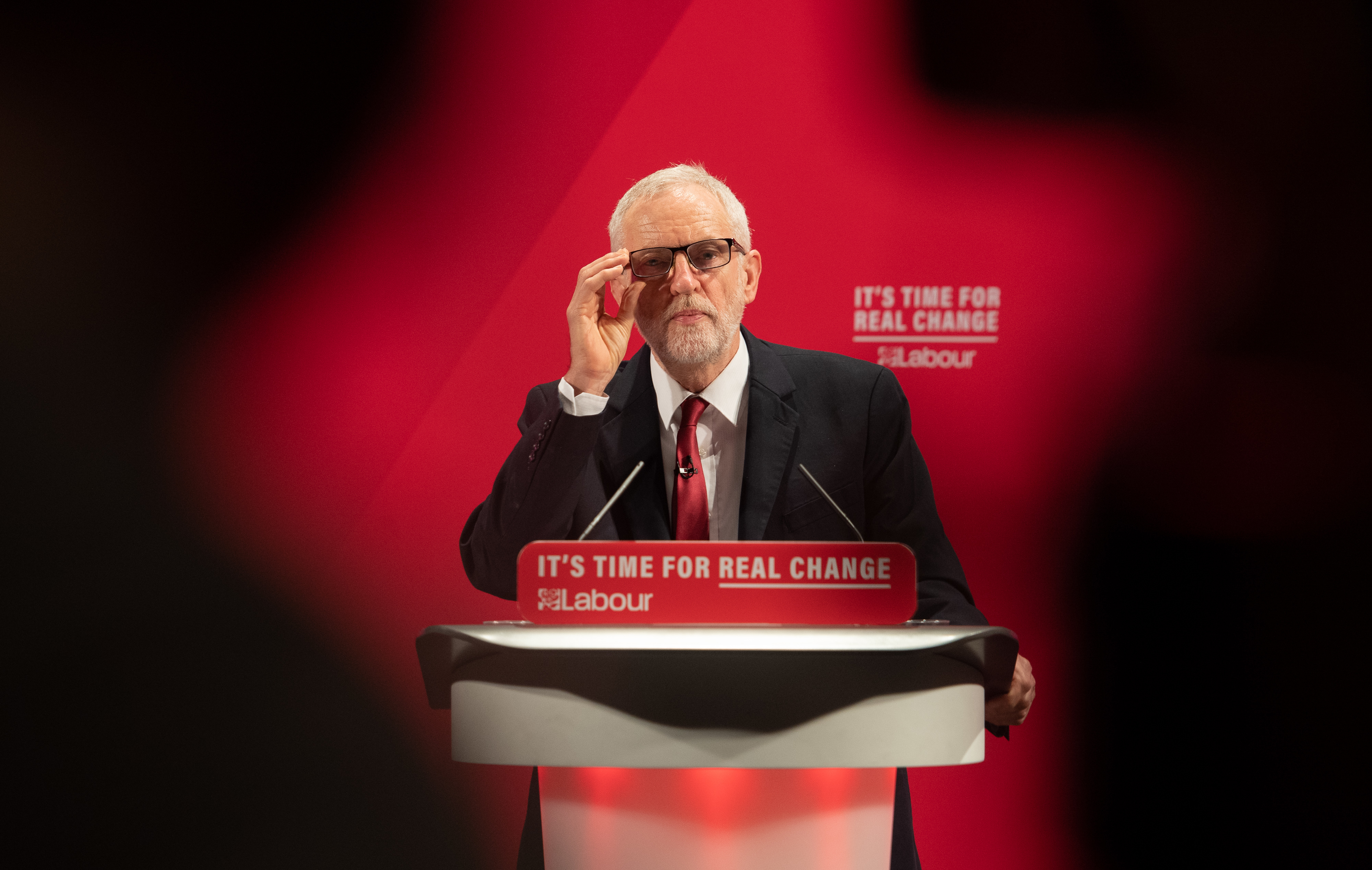 Labour Party leader Jeremy Corbyn at the launch of the Labour Party race and faith manifesto at the Bernie Grant Arts Centre, north London.
