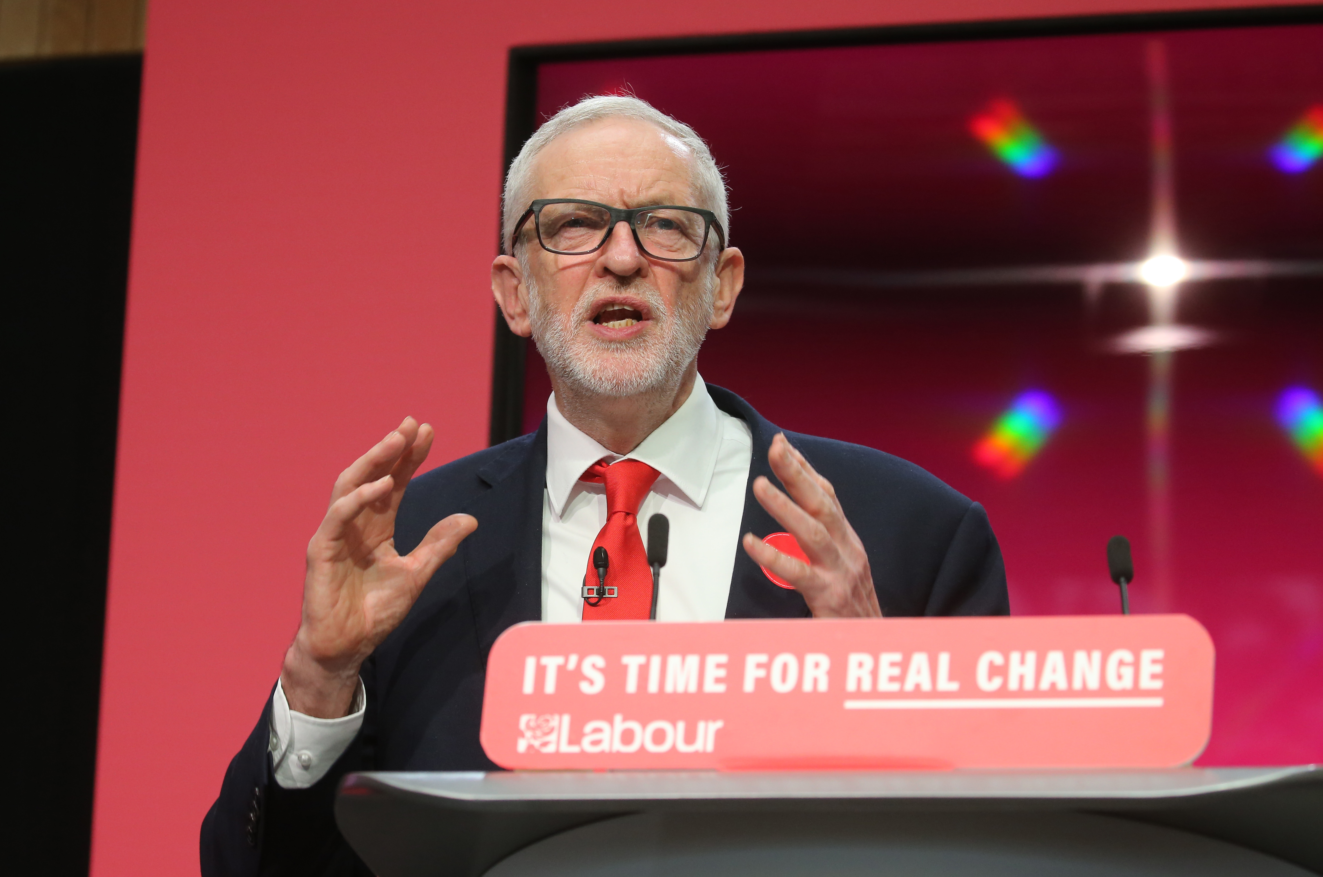 Jeremy Corbyn speaks during the launch of the Labour Party manifesto in Birmingham for the General Election. Picture dated: Thursday November 21, 2019.