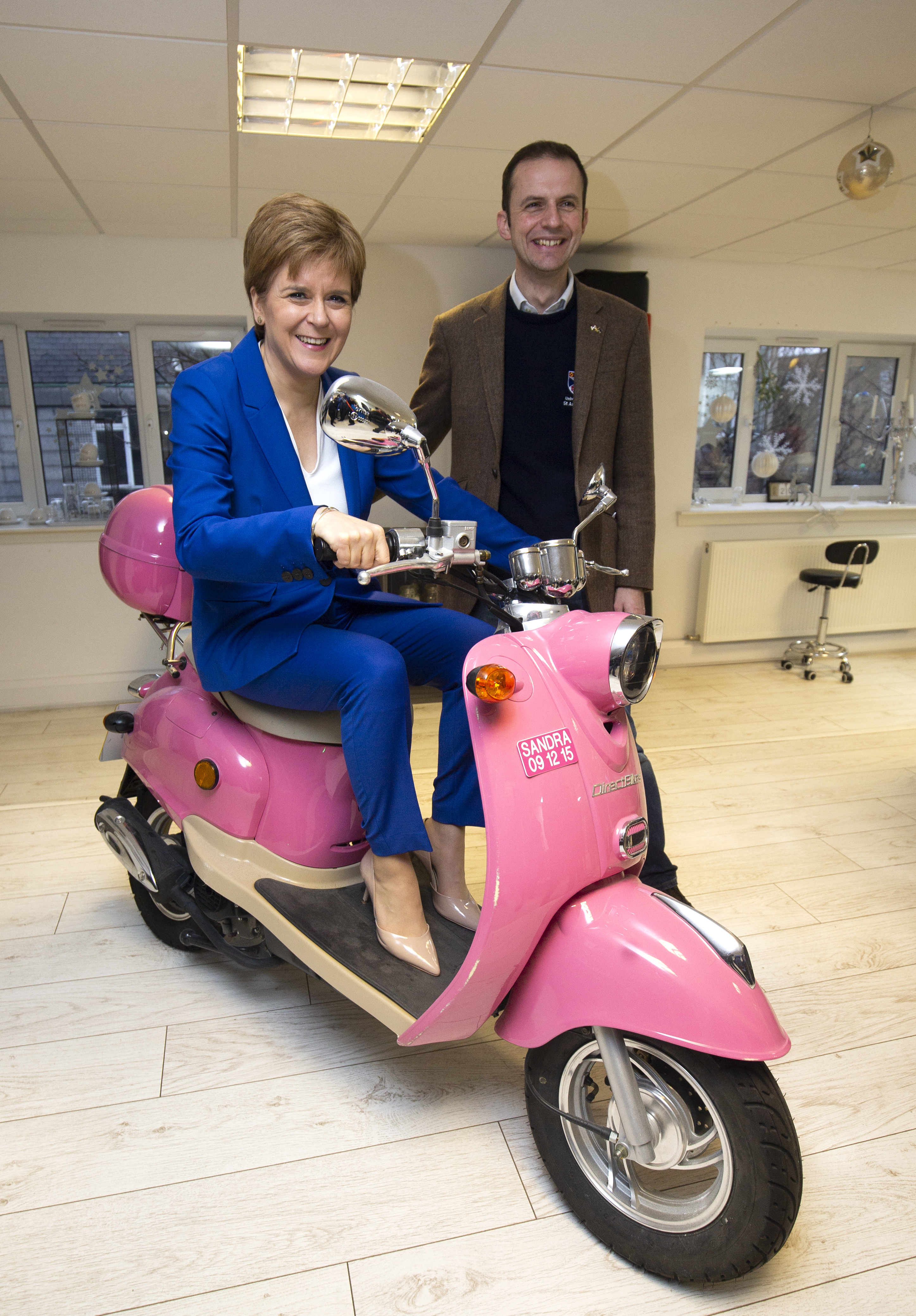 SNP leader Nicola Sturgeon during a visit to Craig Boyd Hairdressing in Leven, Fife, whilst on the General Election campaign trail.
