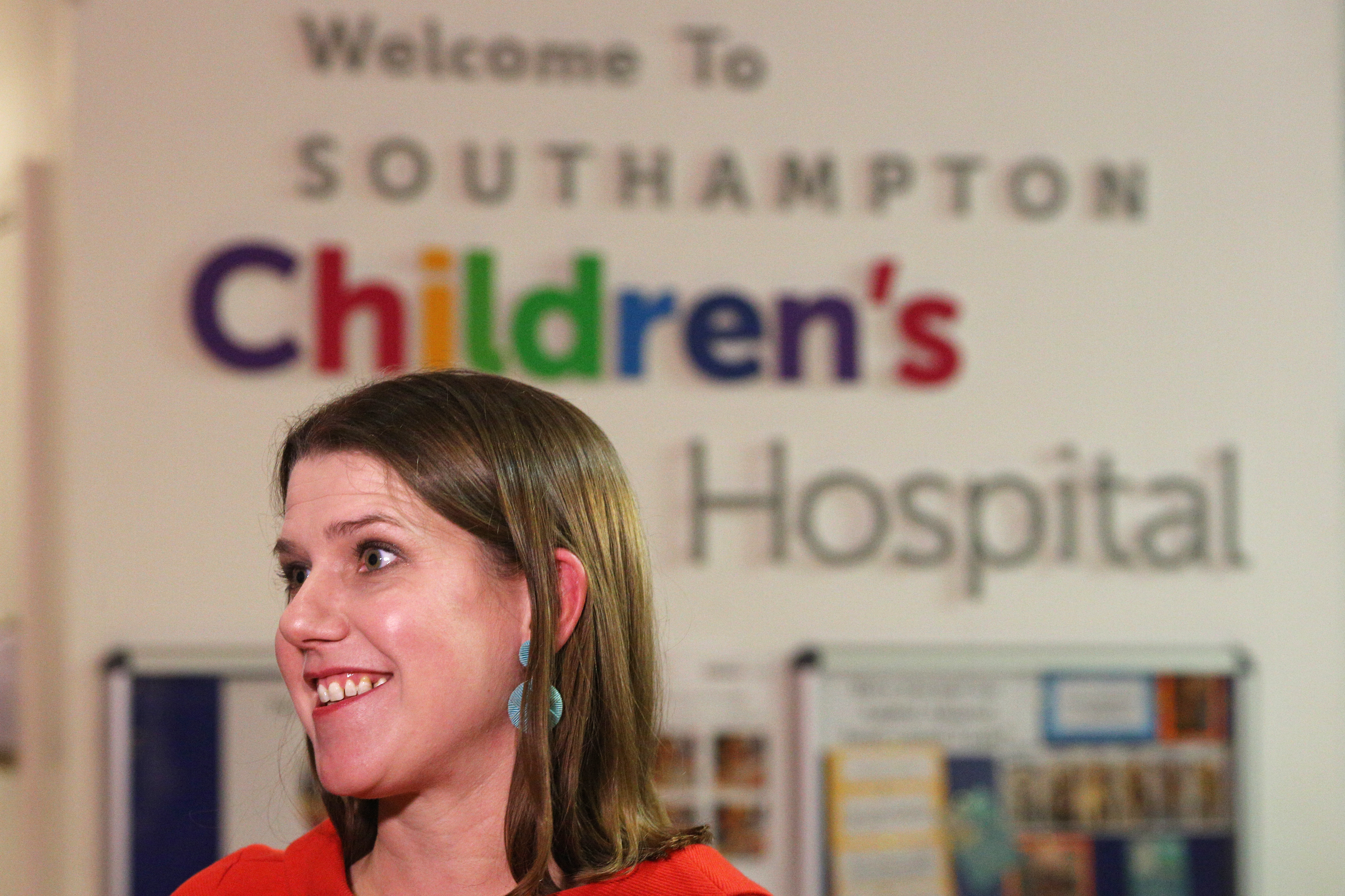 Liberal Democrat leader Jo Swinson during her visit to the children's emergency department at University Hospital Southampton whilst on the General Election campaign trail.