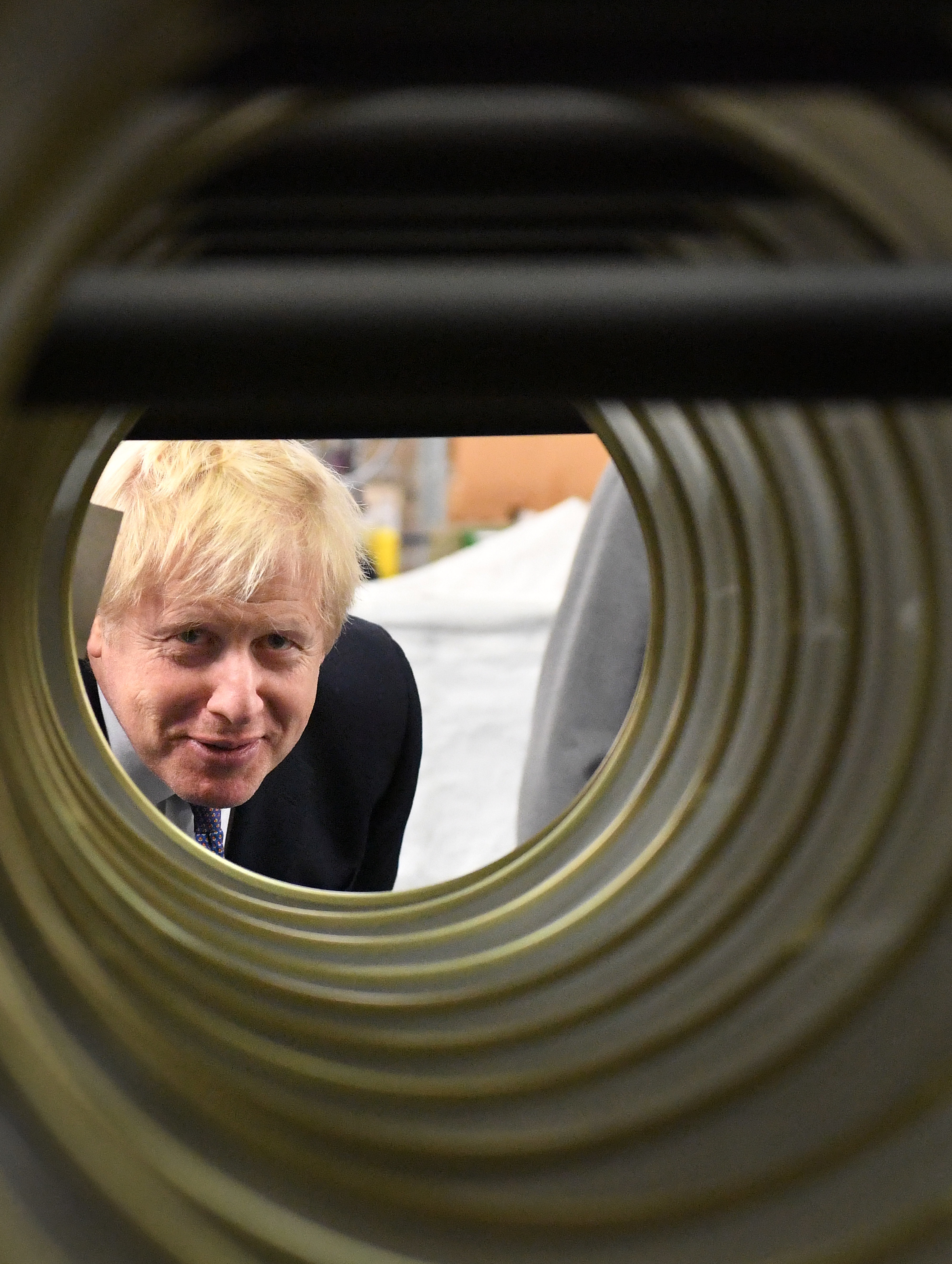 Prime Minister Boris Johnson during a visit to washing machine manufacturer Ebac in Newton Aycliffe while election campaigning in the North East, ahead of the General Election.