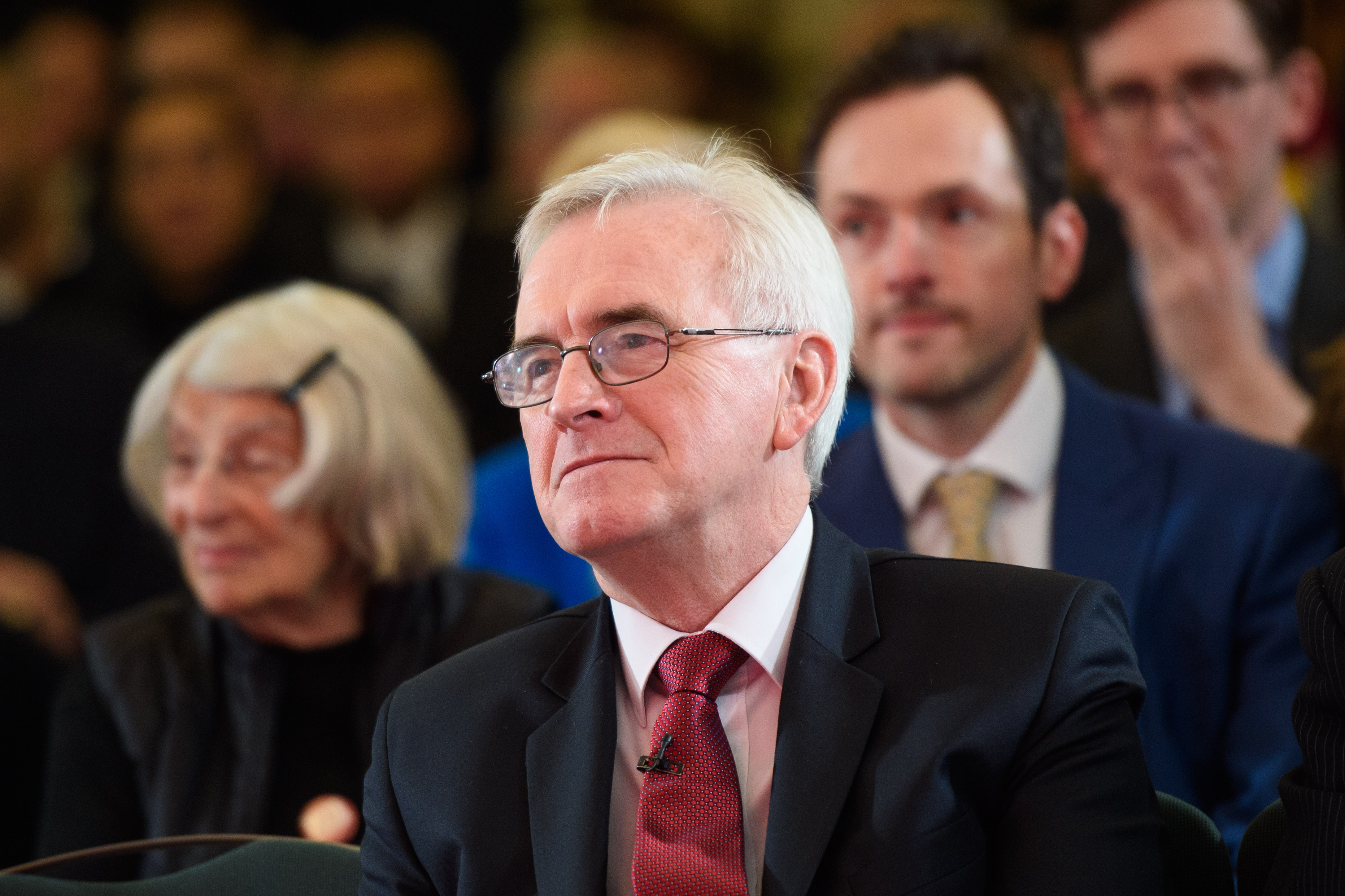 Shadow chancellor John McDonnell gives a speech on the economy, as part of Labour's general election campaign, at Church House in Westminster, London. Picture date: Tuesday November 19, 2019. Photo credit should read: Matt Crossick/Empics