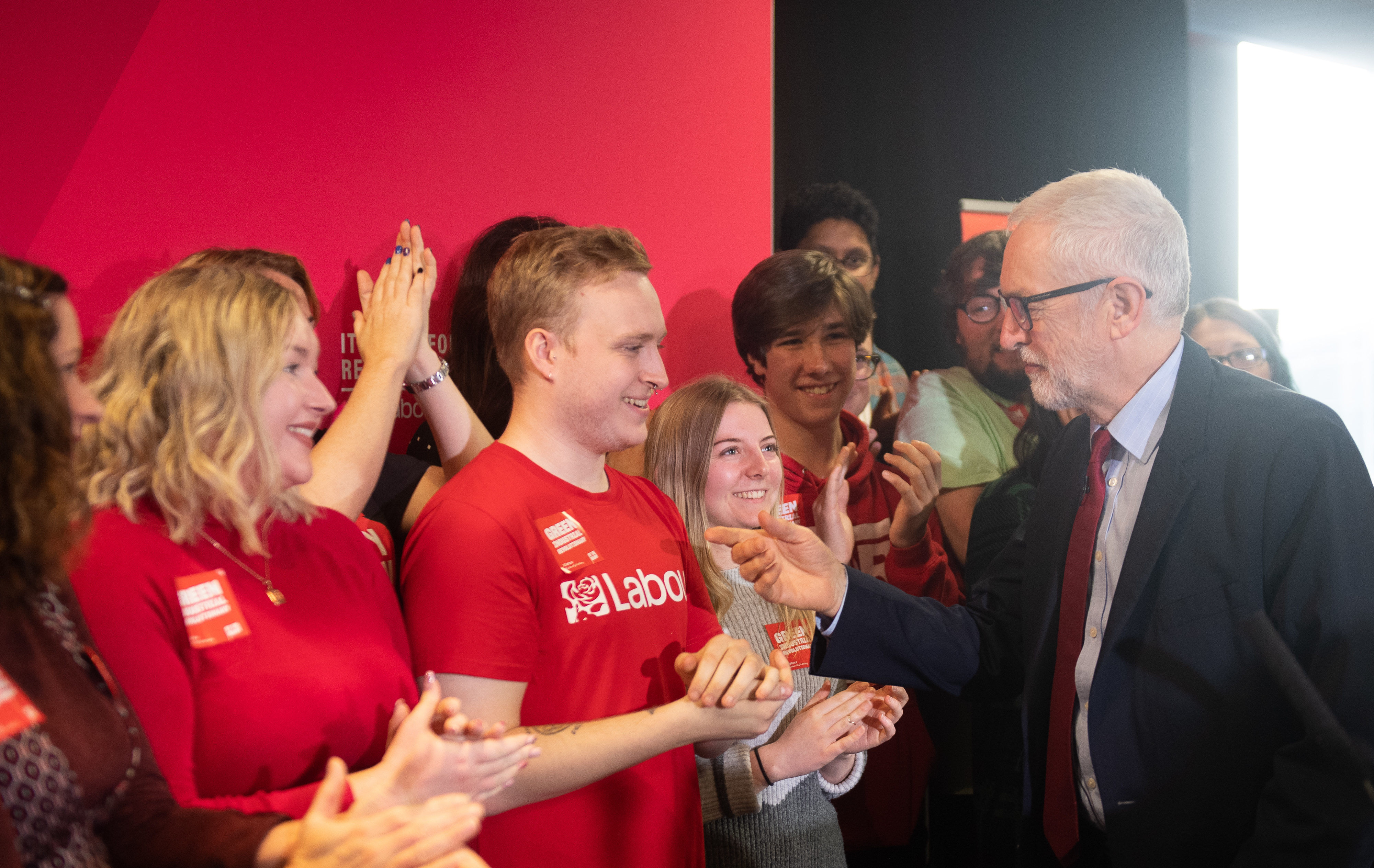 Labour Party leader Jeremy Corbyn makes a speech setting out the party's environment policies at Southampton Football Club in Hampshire, while on the General Election campaign trail.