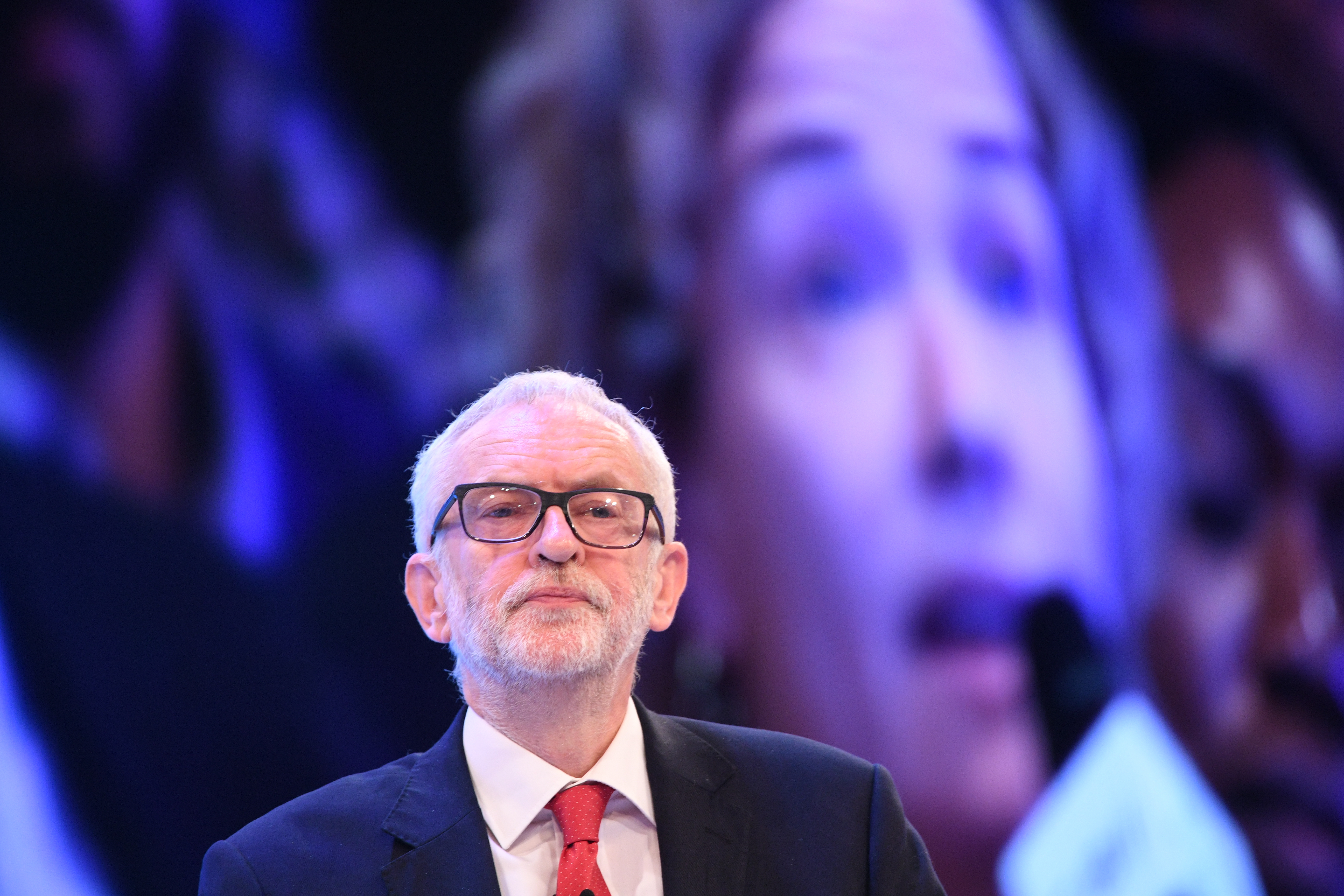 Labour leader Jeremy Corbyn at the CBI annual conference at the InterContinental Hotel in London.