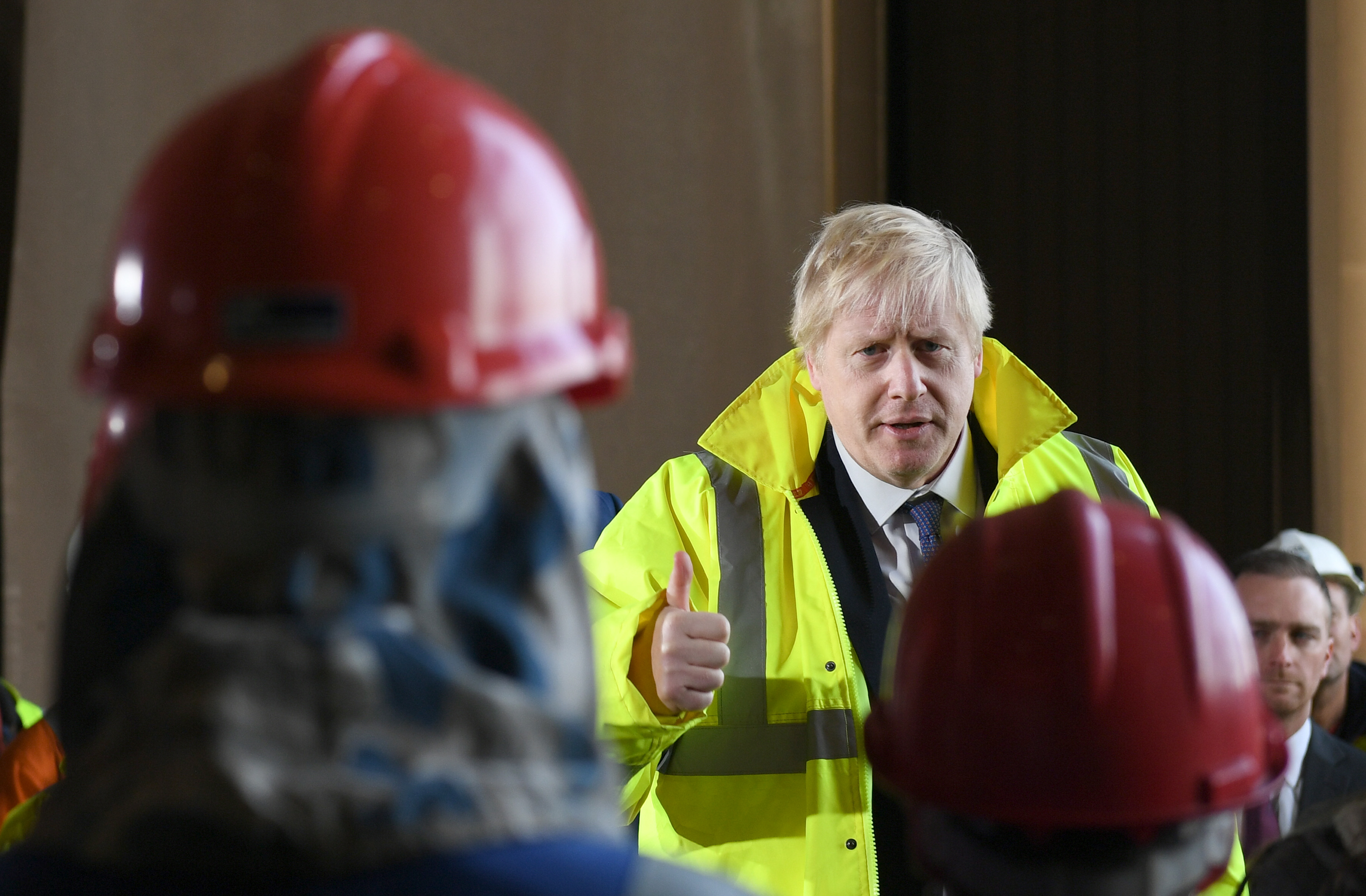 Prime Minister Boris Johnson visiting Wilton Engineering Services in Middlesbrough while on the campaign trail for the General Election.