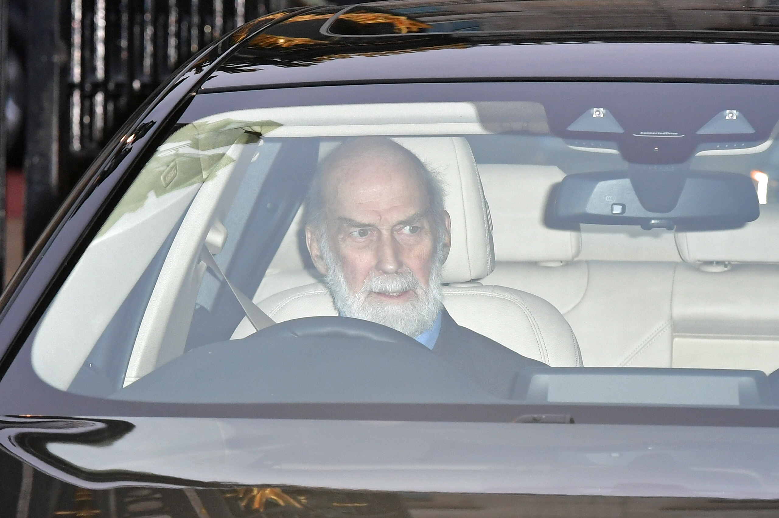 Prince Michael of Kent leaves the Queen's Christmas lunch at Buckingham Palace, London.