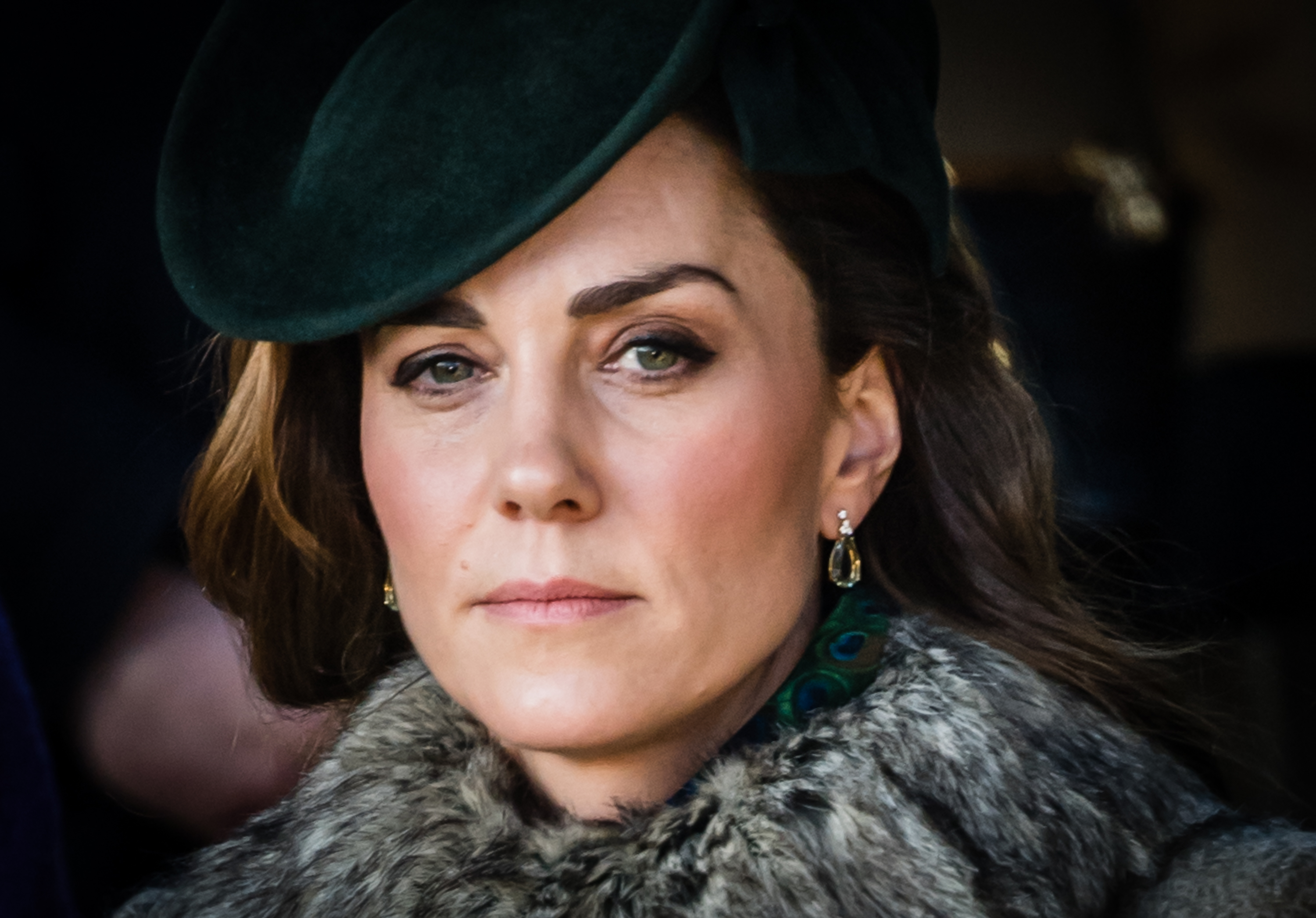 KING'S LYNN, ENGLAND - DECEMBER 25:  Catherine, Duchess of Cambridge attends the Christmas Day  Church service at Church of St Mary Magdalene on the Sandringham estate on December 25, 2019 in King's Lynn, United Kingdom. (Photo by Pool/Samir Hussein/WireImage)