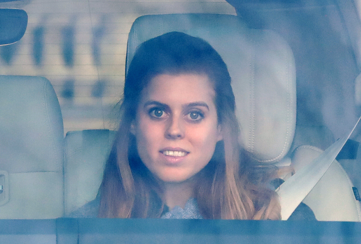 Princess Beatrice arrives for the Queen's Christmas lunch at Buckingham Palace, London.