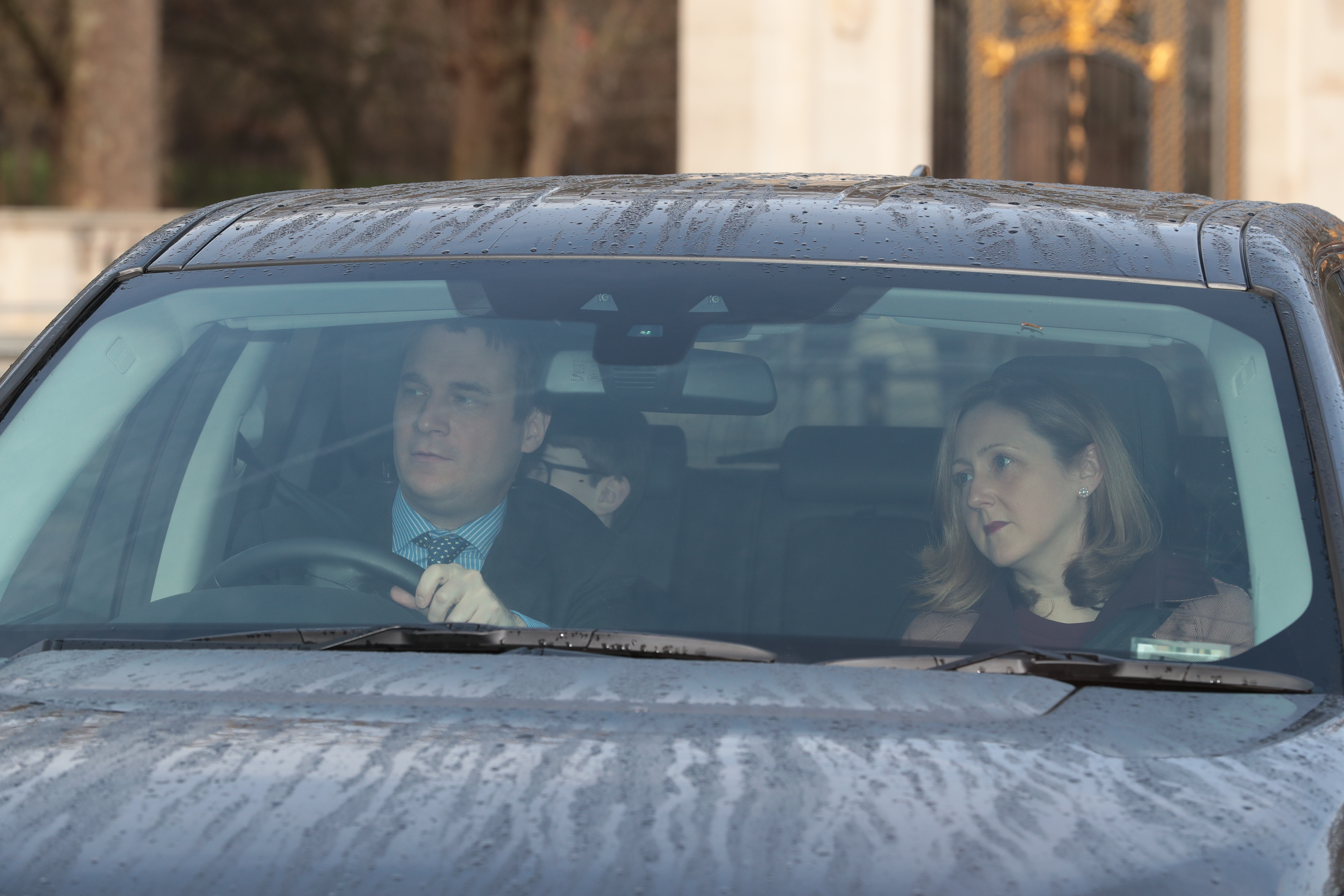 The Earl and Countess of Ulster arriving for the Queen's Christmas lunch at Buckingham Palace, London.
