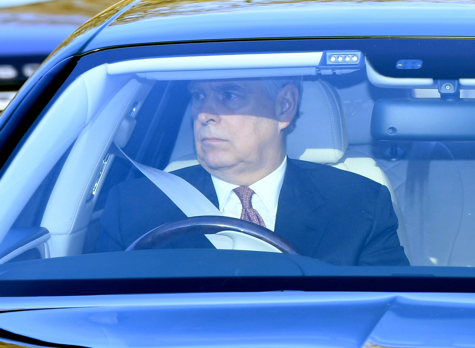 Prince Andrew arriving at the Queen's Christmas Lunch, Buckingham Palace, London.