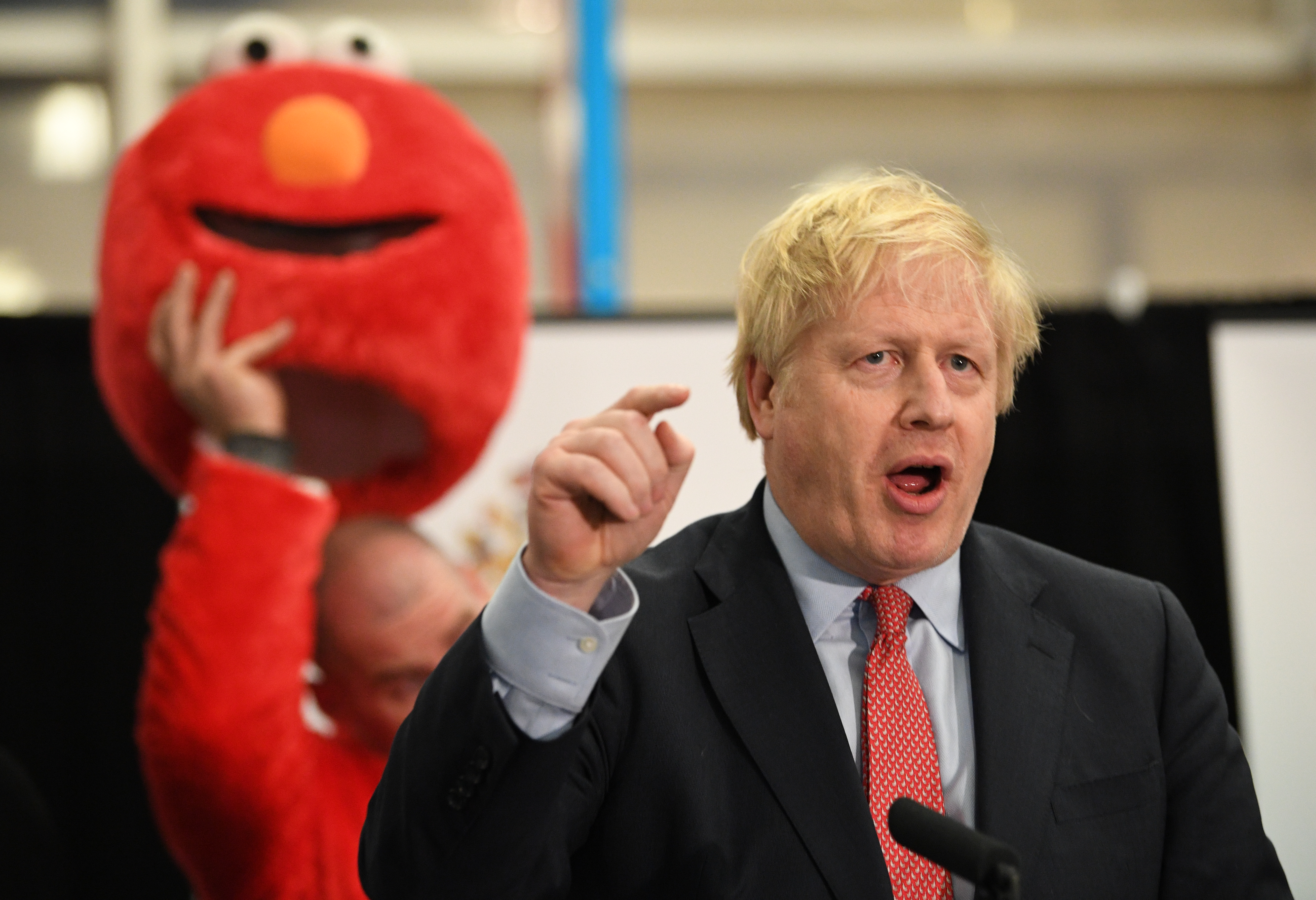 Prime Minister Boris Johnson giving his victory speech after winning the Uxbridge & Ruislip South constituency in the 2019 General Election. (Photo by Stefan Rousseau/PA Images via Getty Images)