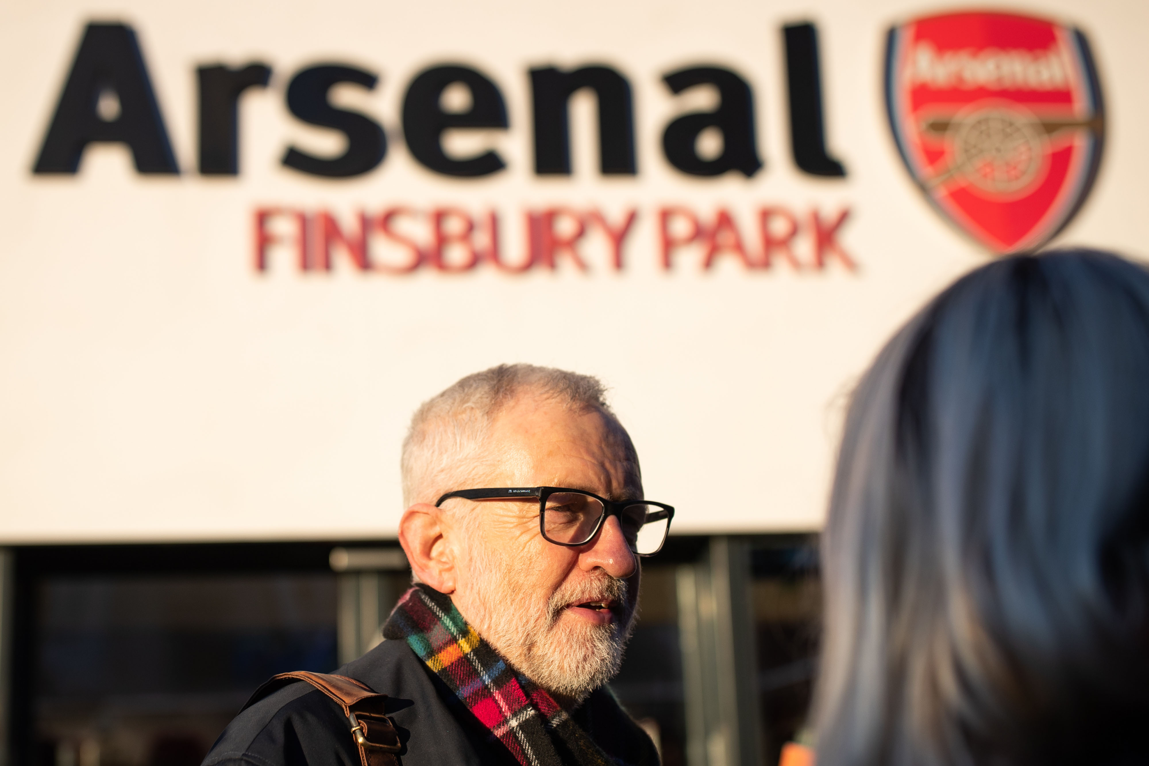 Labour leader, Jeremy Corbyn leafleting outside Finsbury Park station, London, whilst on the General Election campaign trail.