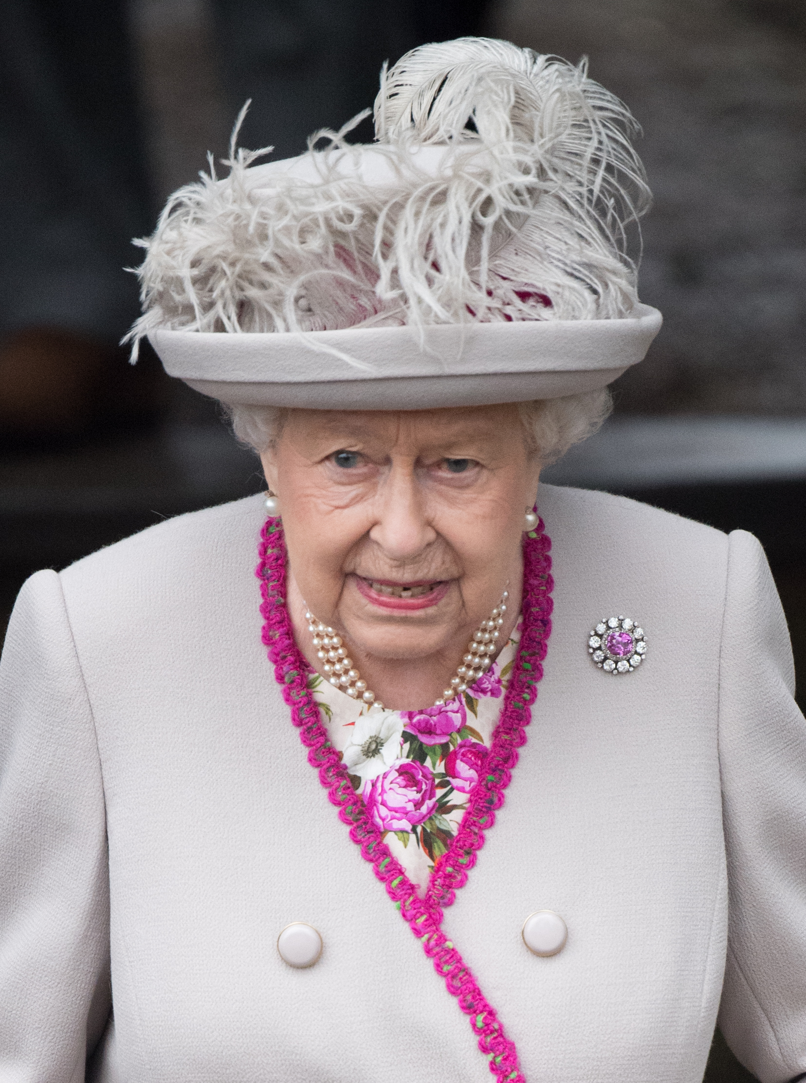 KING'S LYNN, ENGLAND - DECEMBER 25: Queen Elizabeth II attends Christmas Day Church service at Church of St Mary Magdalene on the Sandringham estate on December 25, 2018 in King's Lynn, England. (Photo by Samir Hussein/WireImage)