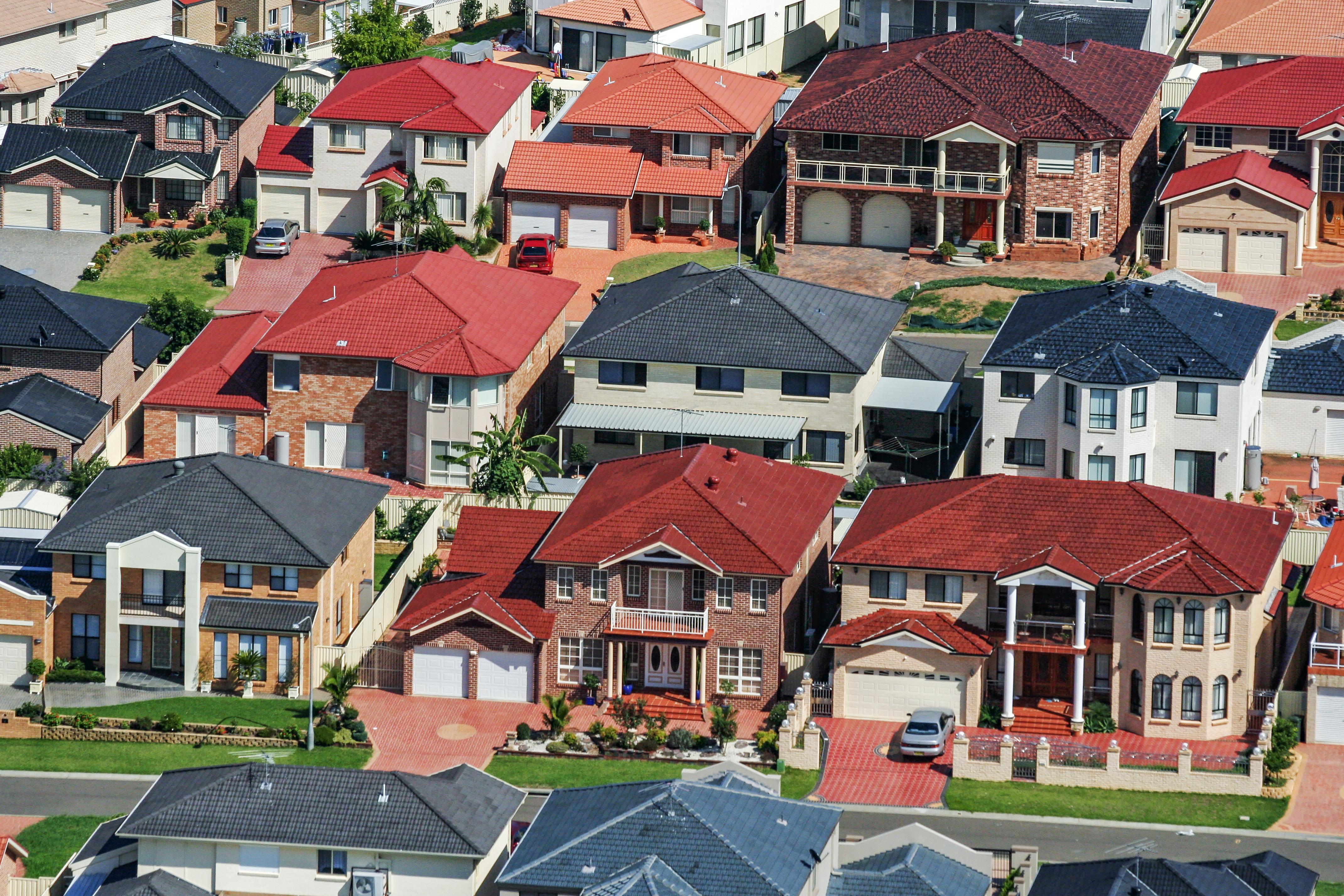 Suburb of Cecil Hills, Western Sydney, Australia