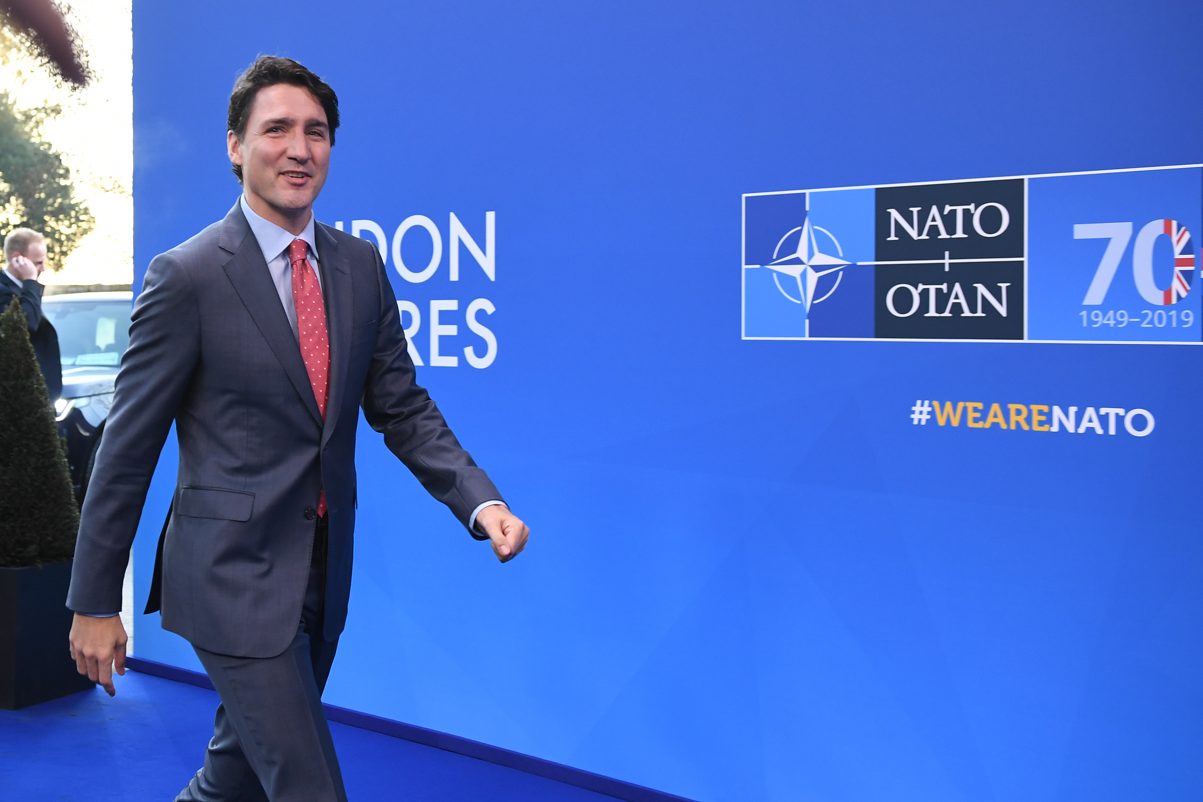 Prime Minister of Canada, Justin Trudeau arrives for the annual Nato heads of government summit at The Grove hotel in Watford, Hertfordshire. PA Photo. Picture date: Wednesday December 4, 2019. See PA story POLITICS Nato. Photo credit should read: Chris J Ratcliffe/PA Wire