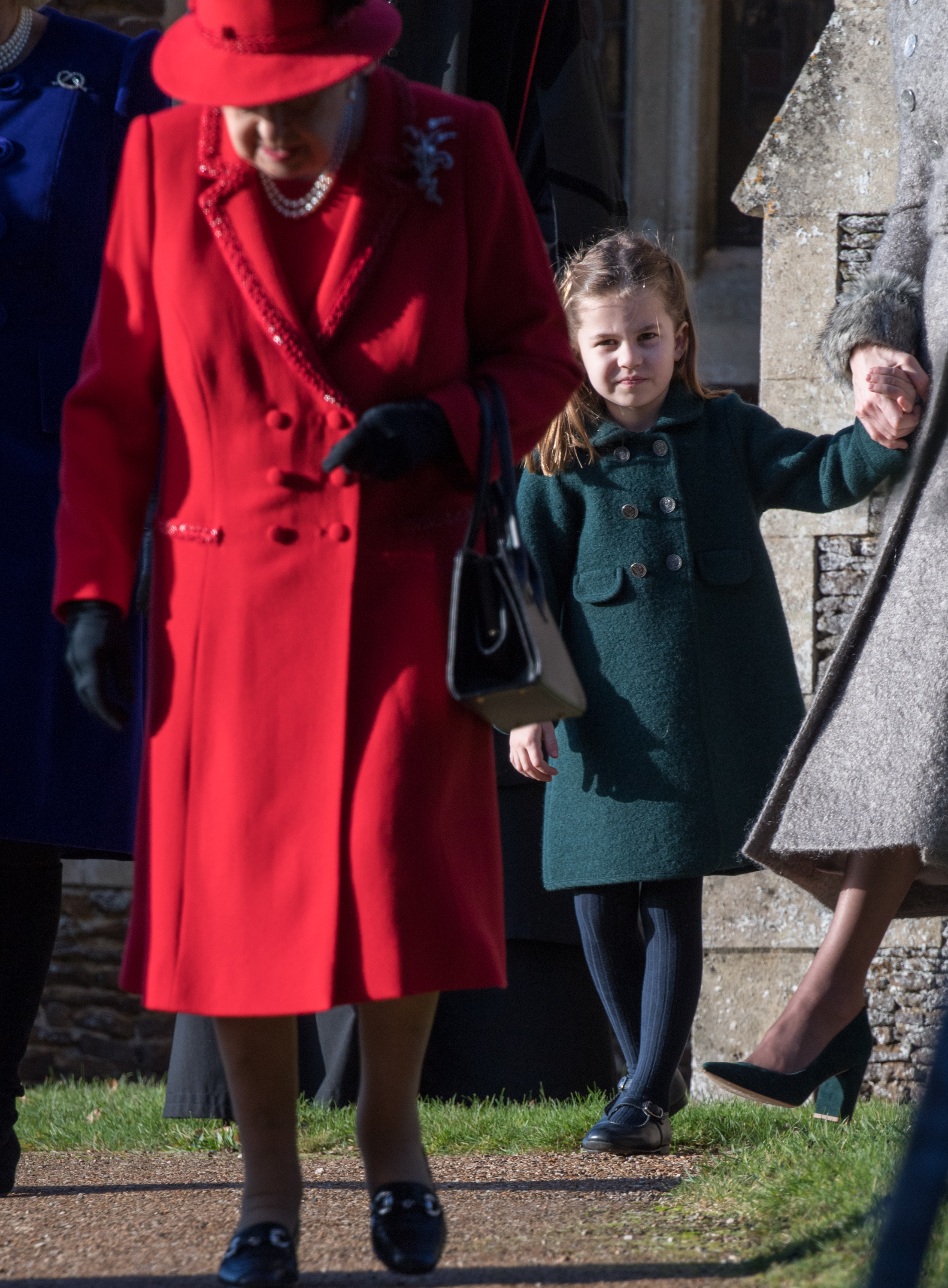 KING'S LYNN, ENGLAND - DECEMBER 25: Princess Charlotte of Cambridge attends the Christmas Day Church service at Church of St Mary Magdalene on the Sandringham estate on December 25, 2019 in King's Lynn, United Kingdom. (Photo by Pool/Samir Hussein/WireImage)