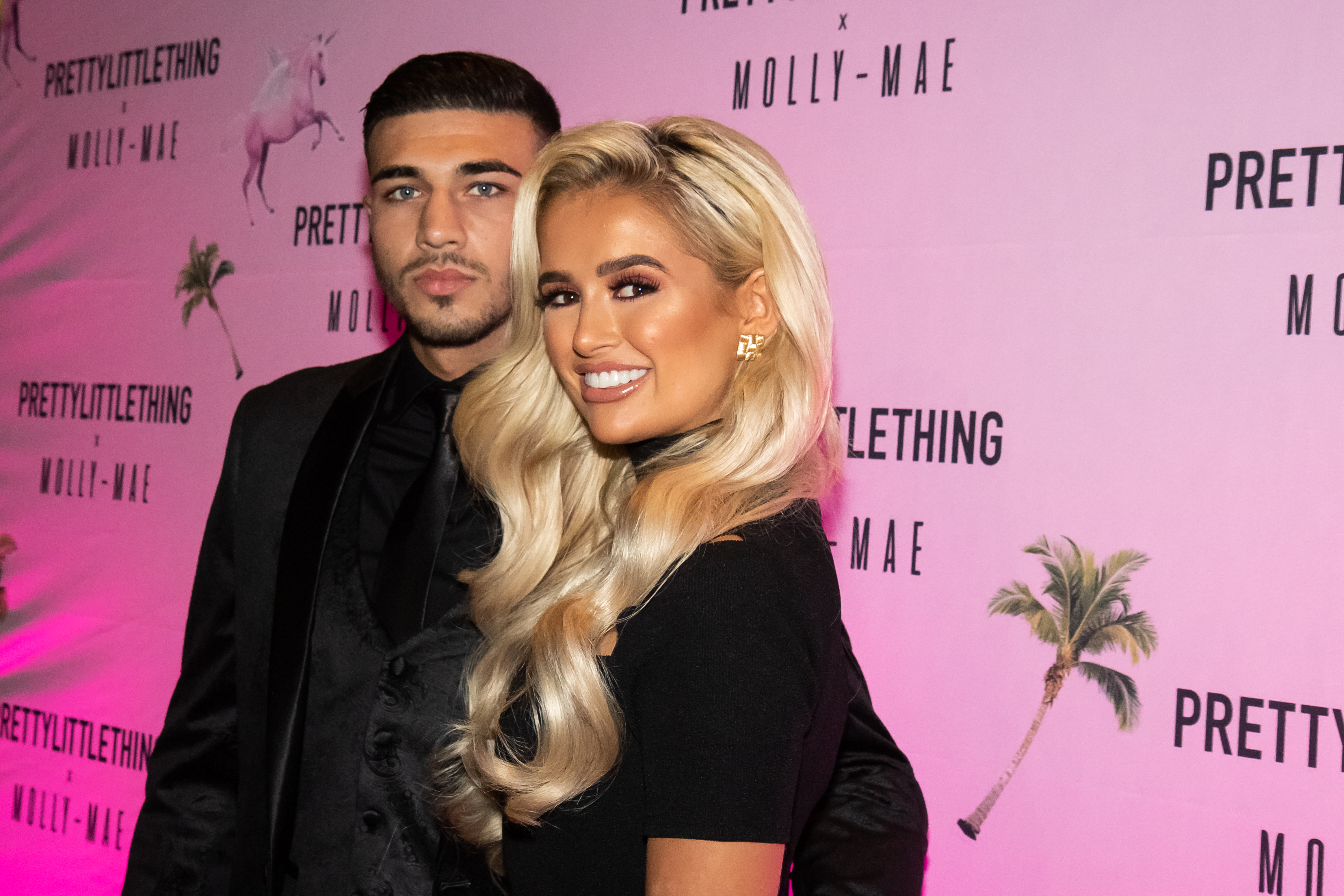 MANCHESTER, ENGLAND - SEPTEMBER 01: Tommy Fury and Molly-Mae attends the Pretty Little Thing X Molly-Mae party at Rosso on September 01, 2019 in Manchester, England. (Photo by Carla Speight/Getty Images)