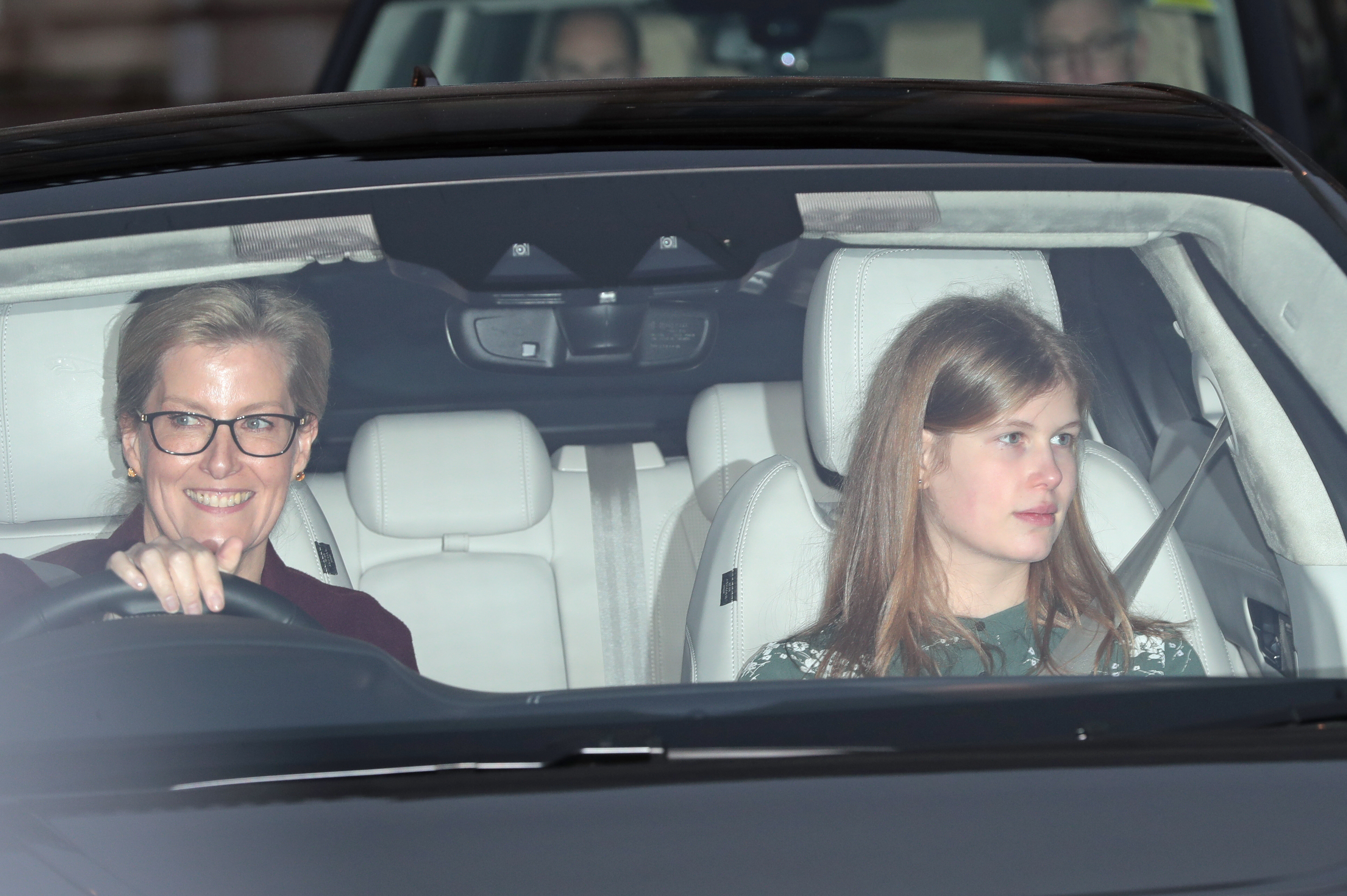 Sophie, Countess of Wessex and her daughter Lady Louise Windsor leaving the Queen's Christmas lunch at Buckingham Palace, London.