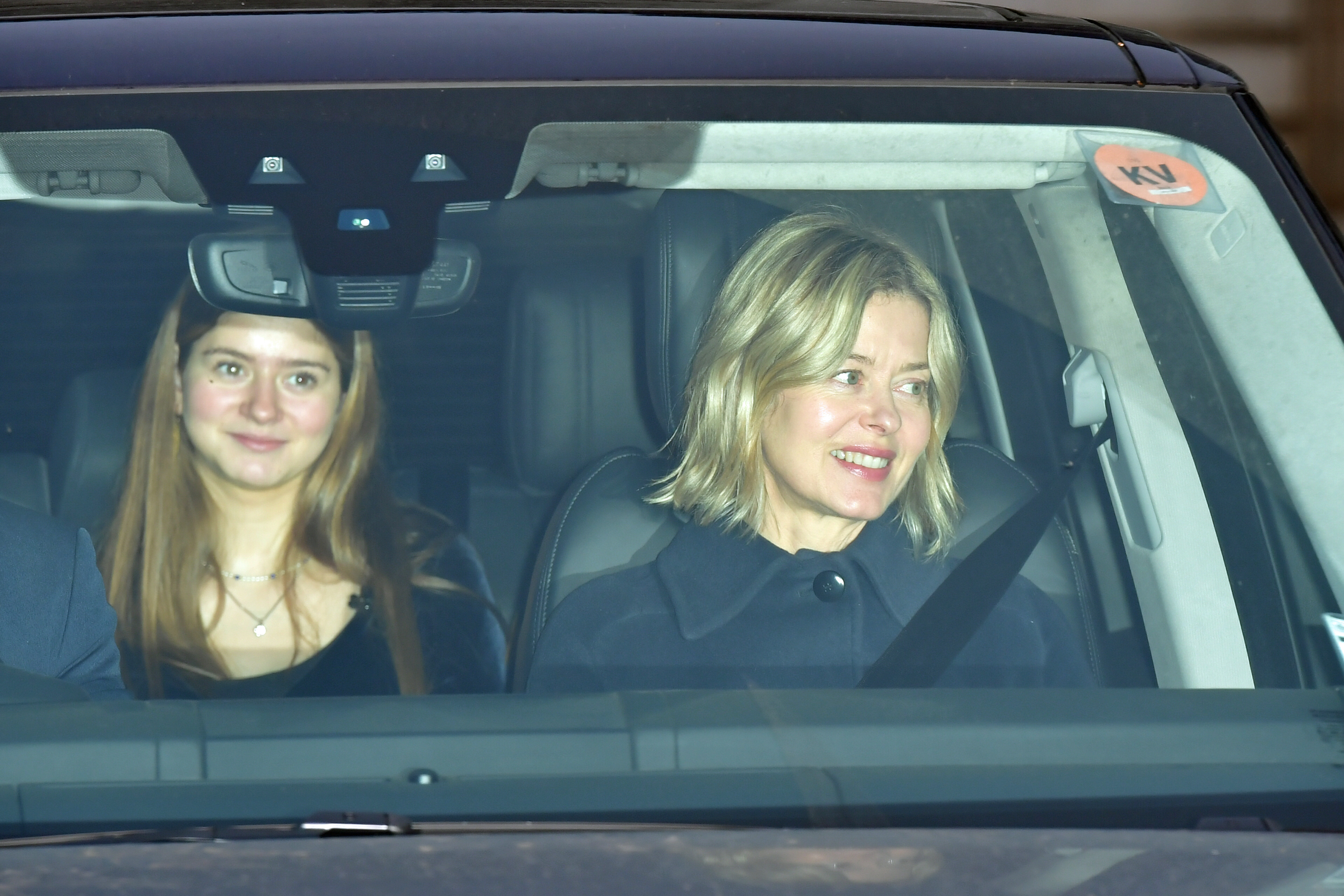 Lady Helen Taylor, and her daughter Estella leave after the Queen's Christmas lunch at Buckingham Palace, London.
