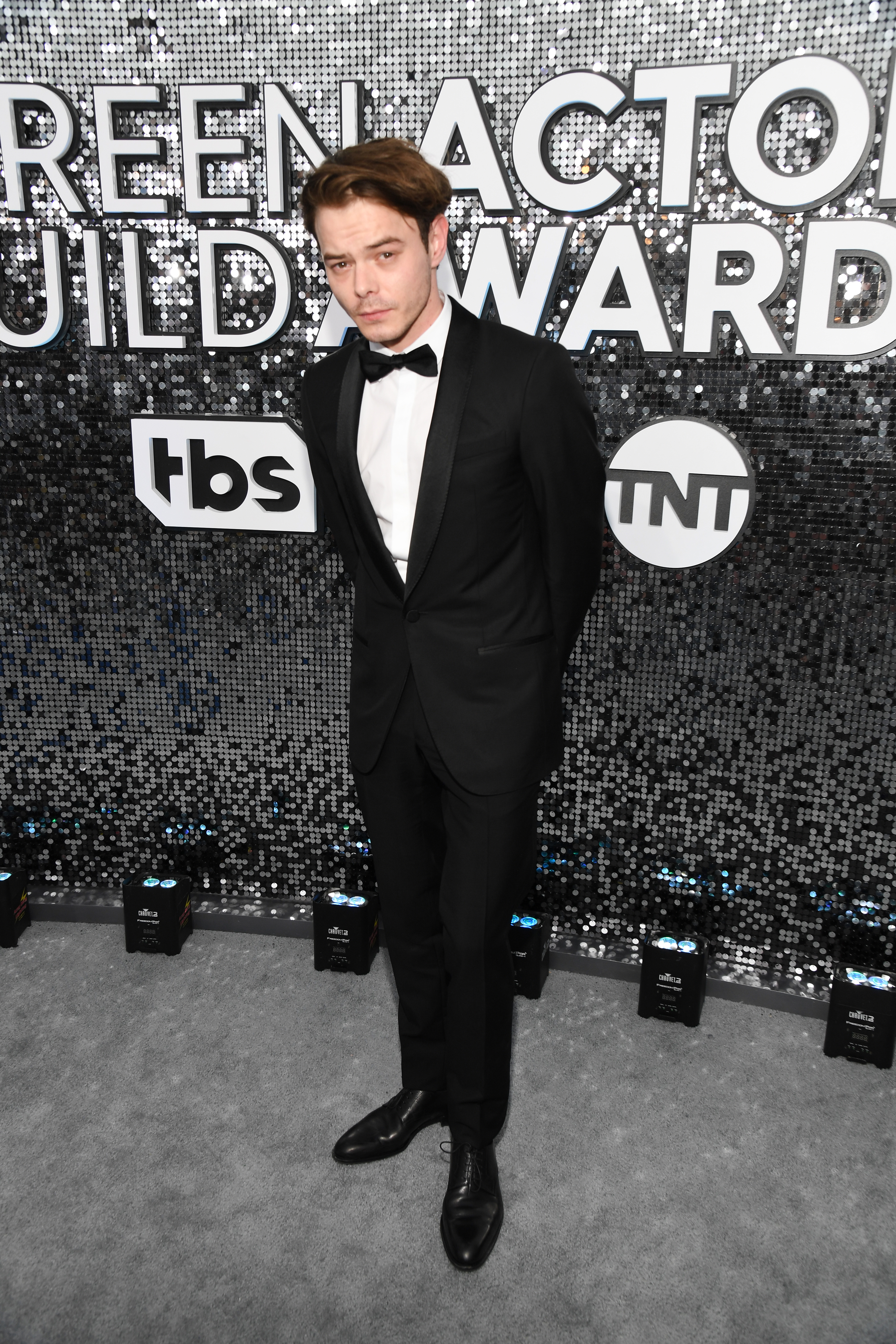 LOS ANGELES, CALIFORNIA - JANUARY 19: Charlie Heaton attends the 26th Annual Screen ActorsGuild Awards at The Shrine Auditorium on January 19, 2020 in Los Angeles, California. 721336 (Photo by Kevin Mazur/Getty Images for Turner)