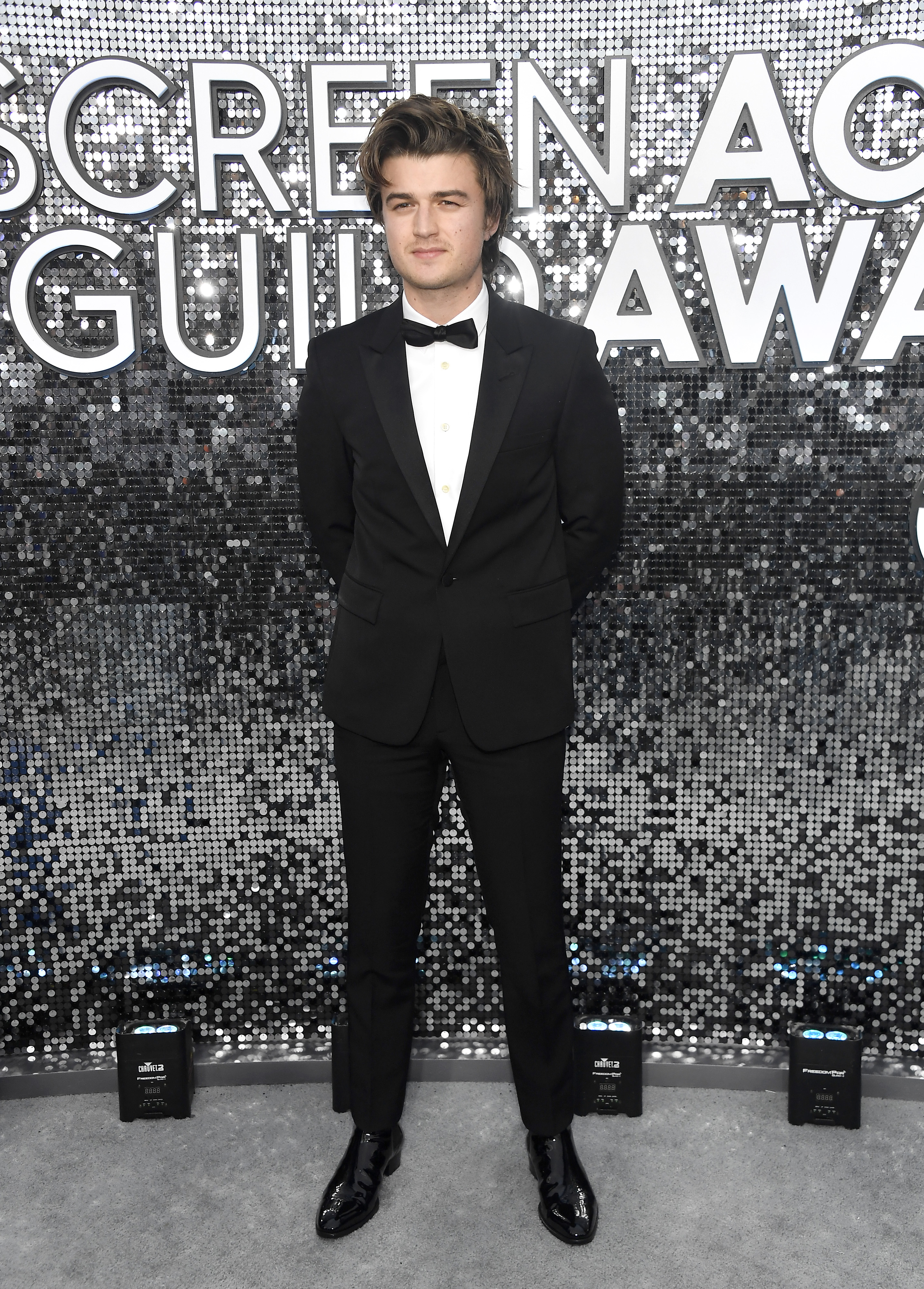 LOS ANGELES, CALIFORNIA - JANUARY 19: Joe Keery attends the 26th Annual Screen ActorsGuild Awards at The Shrine Auditorium on January 19, 2020 in Los Angeles, California. (Photo by Frazer Harrison/Getty Images)