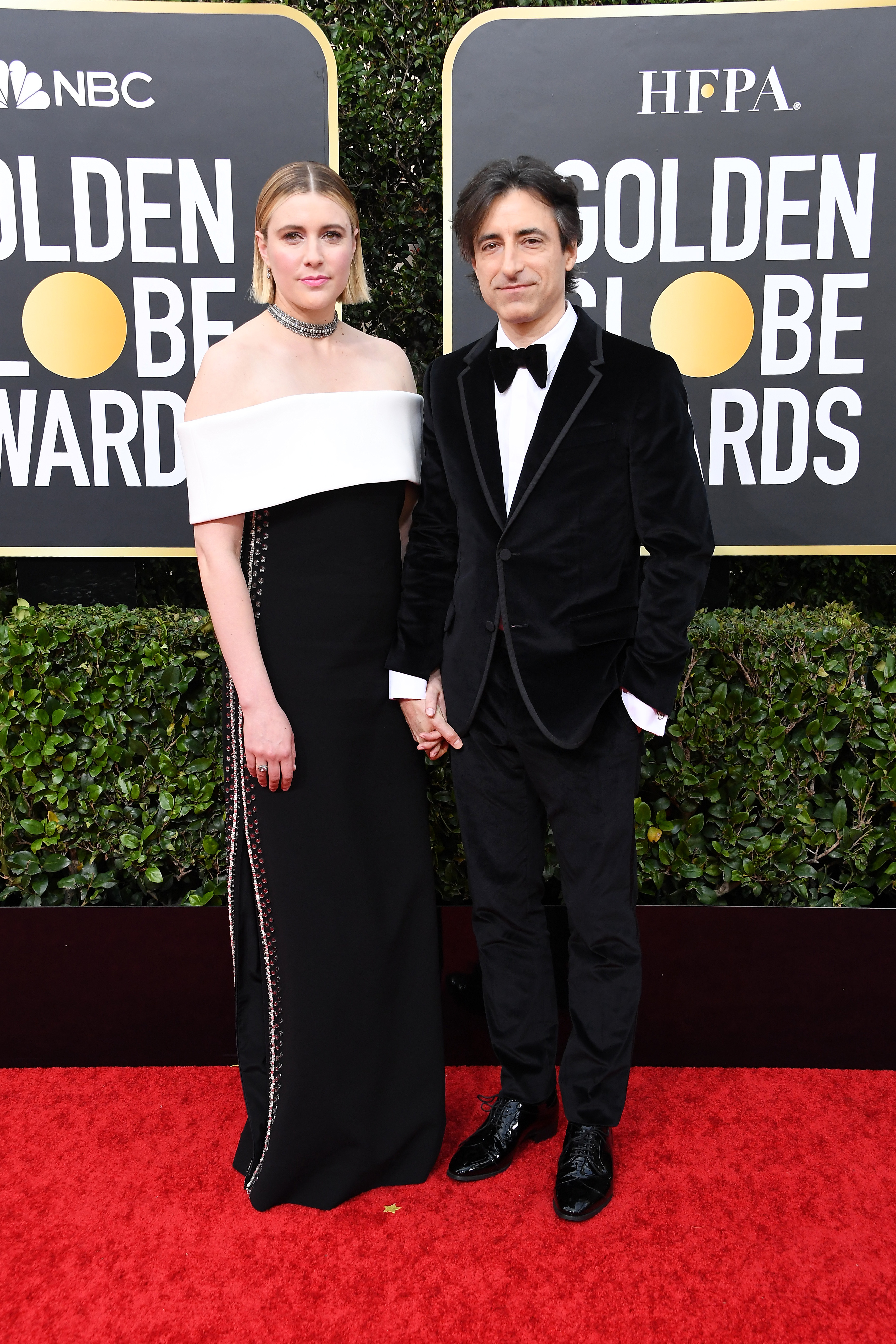 BEVERLY HILLS, CALIFORNIA - JANUARY 05:  (L-R) Greta Gerwig and  Noah Baumbach attend the 77th Annual Golden Globe Awards at The Beverly Hilton Hotel on January 05, 2020 in Beverly Hills, California. (Photo by Steve Granitz/WireImage)