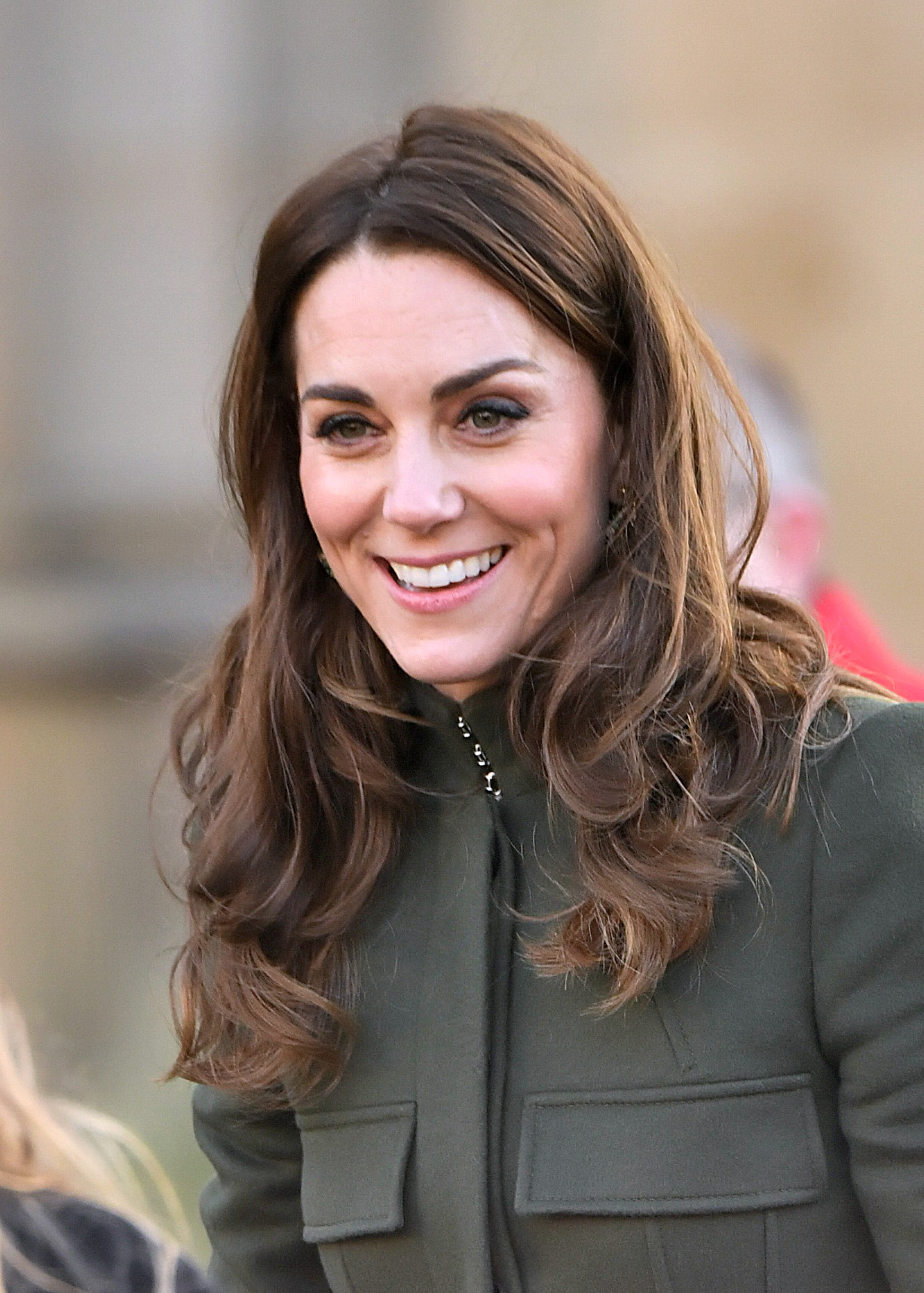 BRADFORD, ENGLAND - JANUARY 15: Catherine, Duchess of Cambridge leaves after her visit to City Hall in Bradford's Centenary Square, on January 15, 2020 in Bradford, United Kingdom. (Photo by Samir Hussein/WireImage)