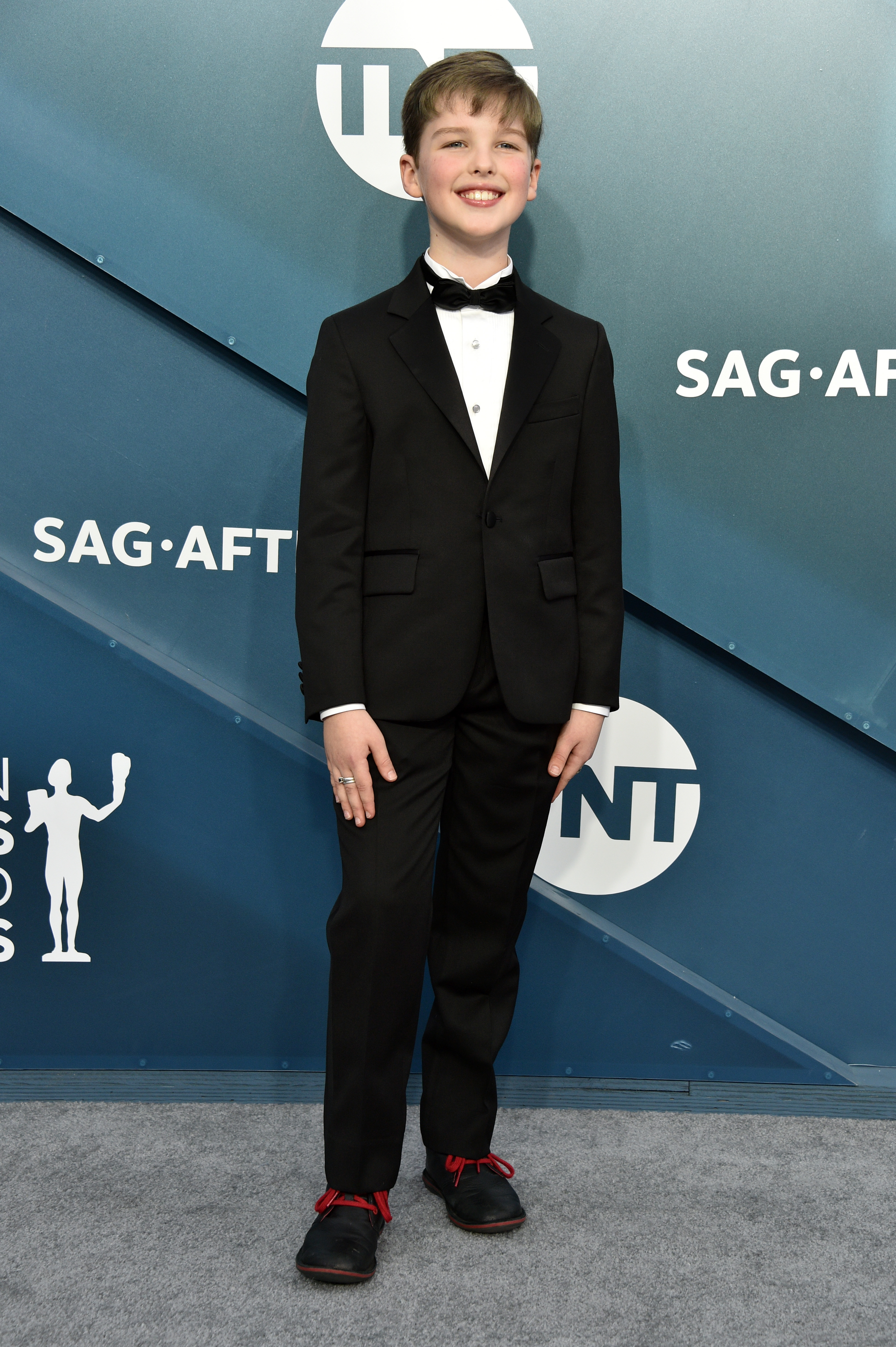 LOS ANGELES, CALIFORNIA - JANUARY 19: Iain Armitage attends the 26th Annual Screen ActorsGuild Awards at The Shrine Auditorium on January 19, 2020 in Los Angeles, California. 721430 (Photo by Gregg DeGuire/Getty Images for Turner)