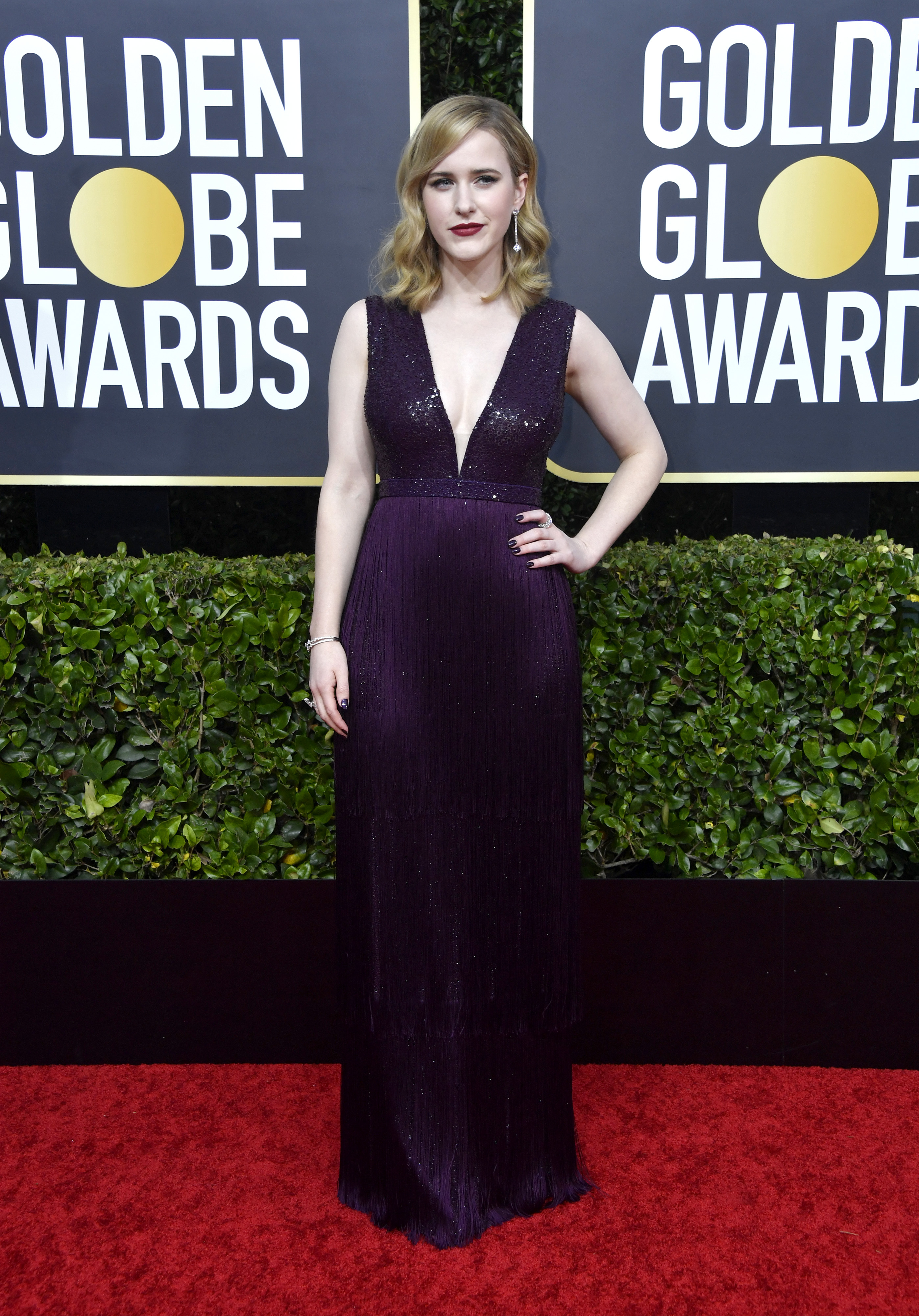 BEVERLY HILLS, CALIFORNIA - JANUARY 05: Rachel Brosnahan attends the 77th Annual Golden Globe Awards at The Beverly Hilton Hotel on January 05, 2020 in Beverly Hills, California. (Photo by Frazer Harrison/Getty Images)