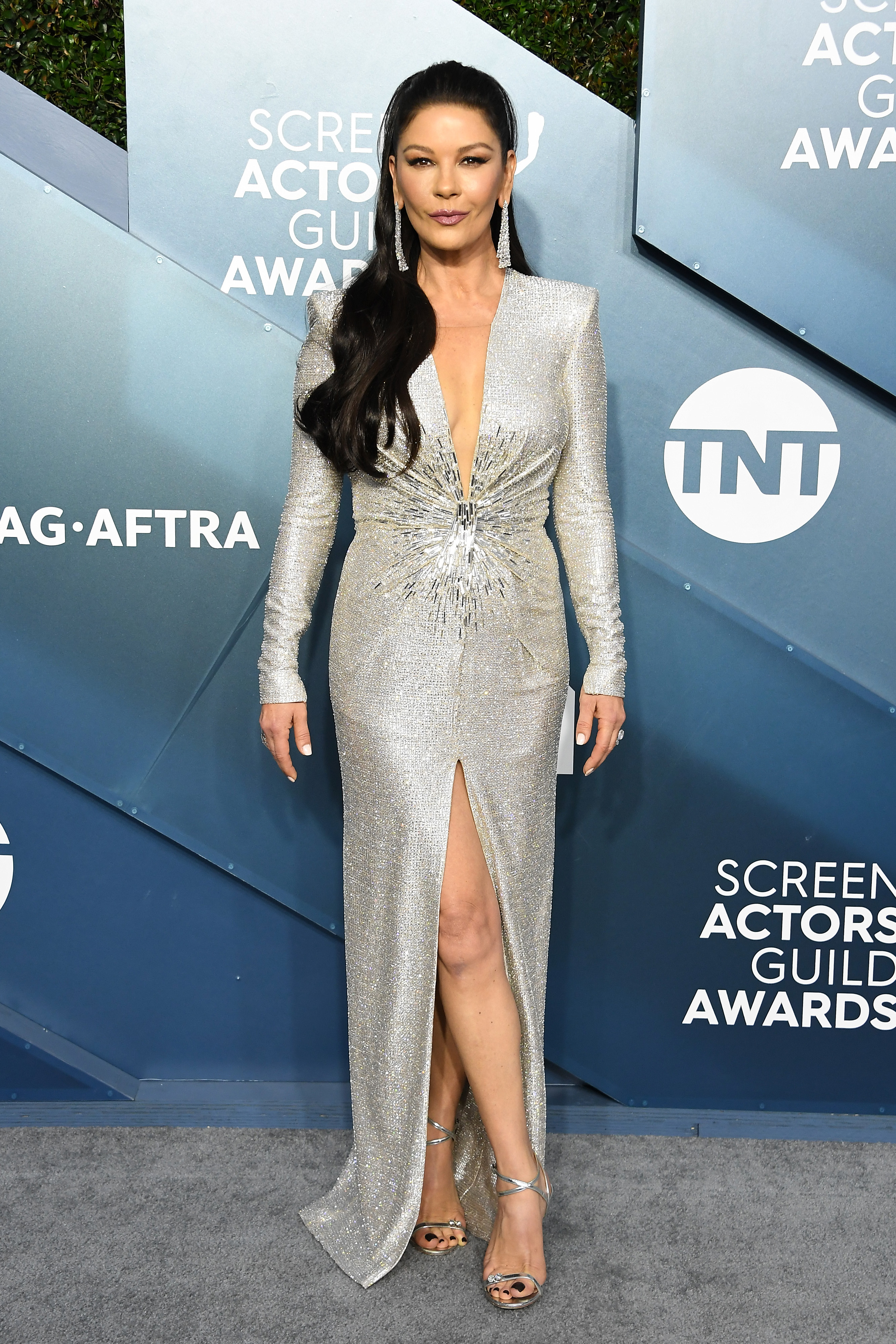 LOS ANGELES, CALIFORNIA - JANUARY 19: Catherine Zeta-Jones attends the 26th Annual Screen ActorsGuild Awards at The Shrine Auditorium on January 19, 2020 in Los Angeles, California. (Photo by Steve Granitz/WireImage)
