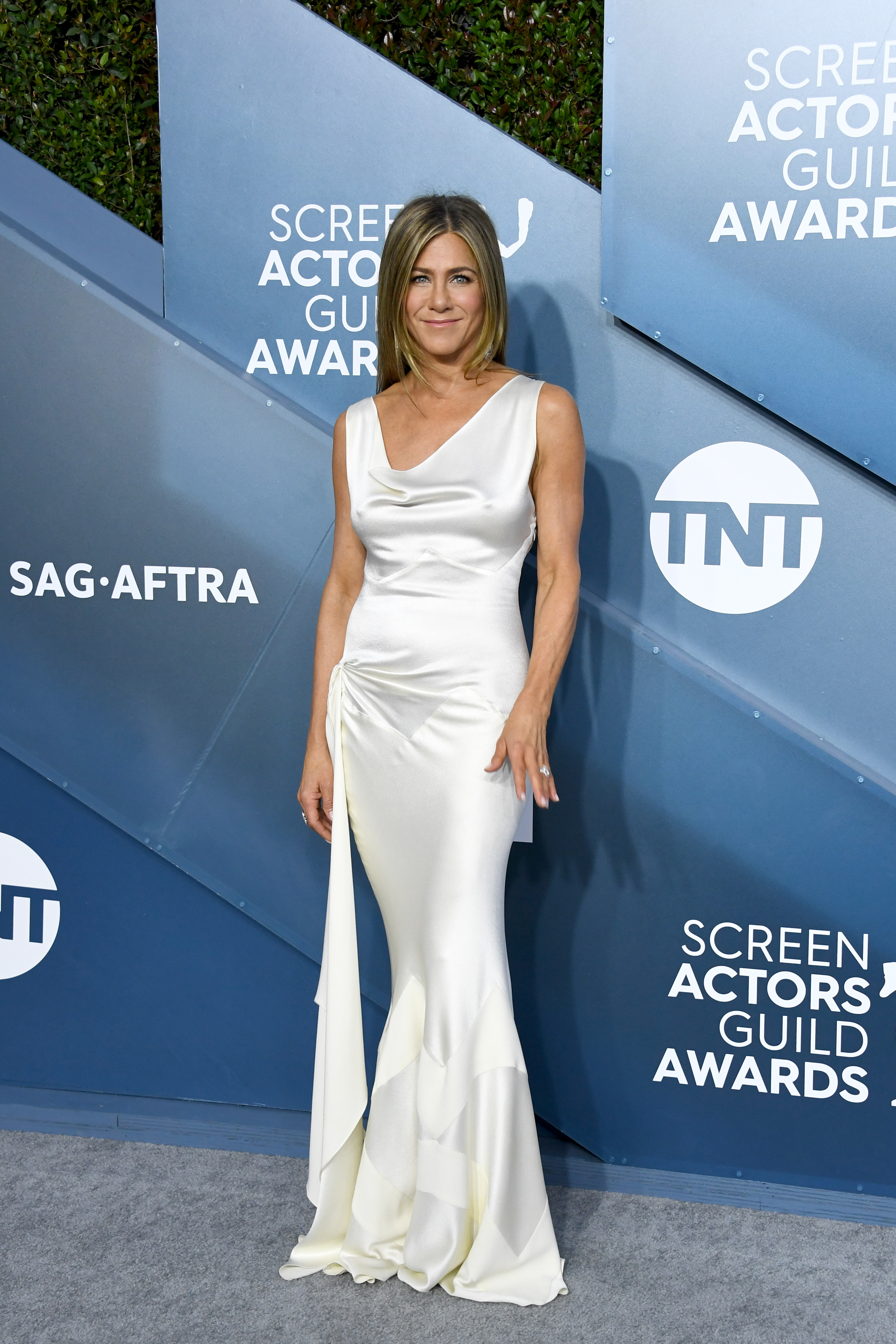 LOS ANGELES, CALIFORNIA - JANUARY 19: Jennifer Aniston attends the 26th Annual Screen ActorsGuild Awards at The Shrine Auditorium on January 19, 2020 in Los Angeles, California. (Photo by Jon Kopaloff/Getty Images)