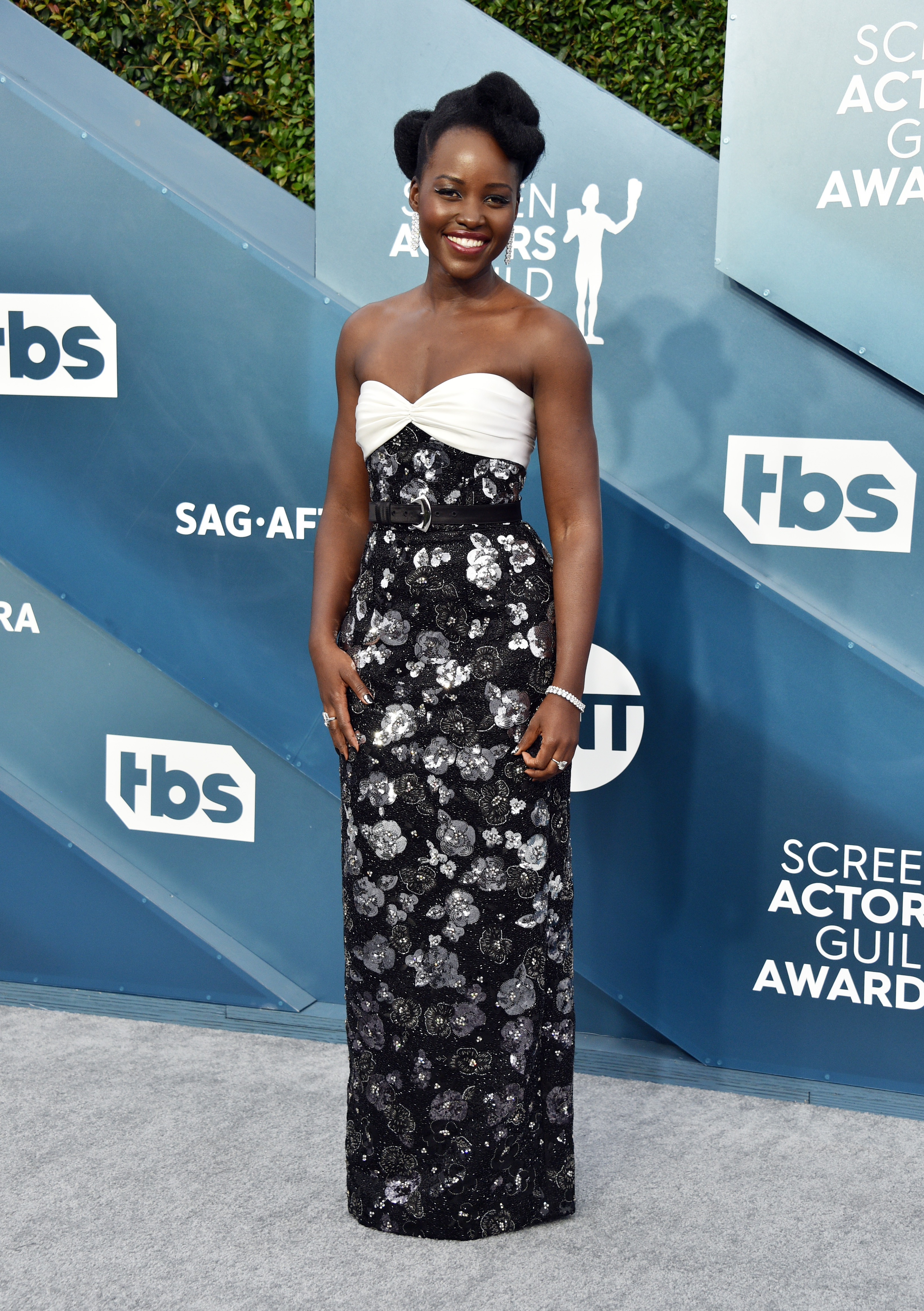 LOS ANGELES, CALIFORNIA - JANUARY 19: Lupita Nyong'o attends the 26th Annual Screen ActorsGuild Awards at The Shrine Auditorium on January 19, 2020 in Los Angeles, California. 721430 (Photo by Gregg DeGuire/Getty Images for Turner)