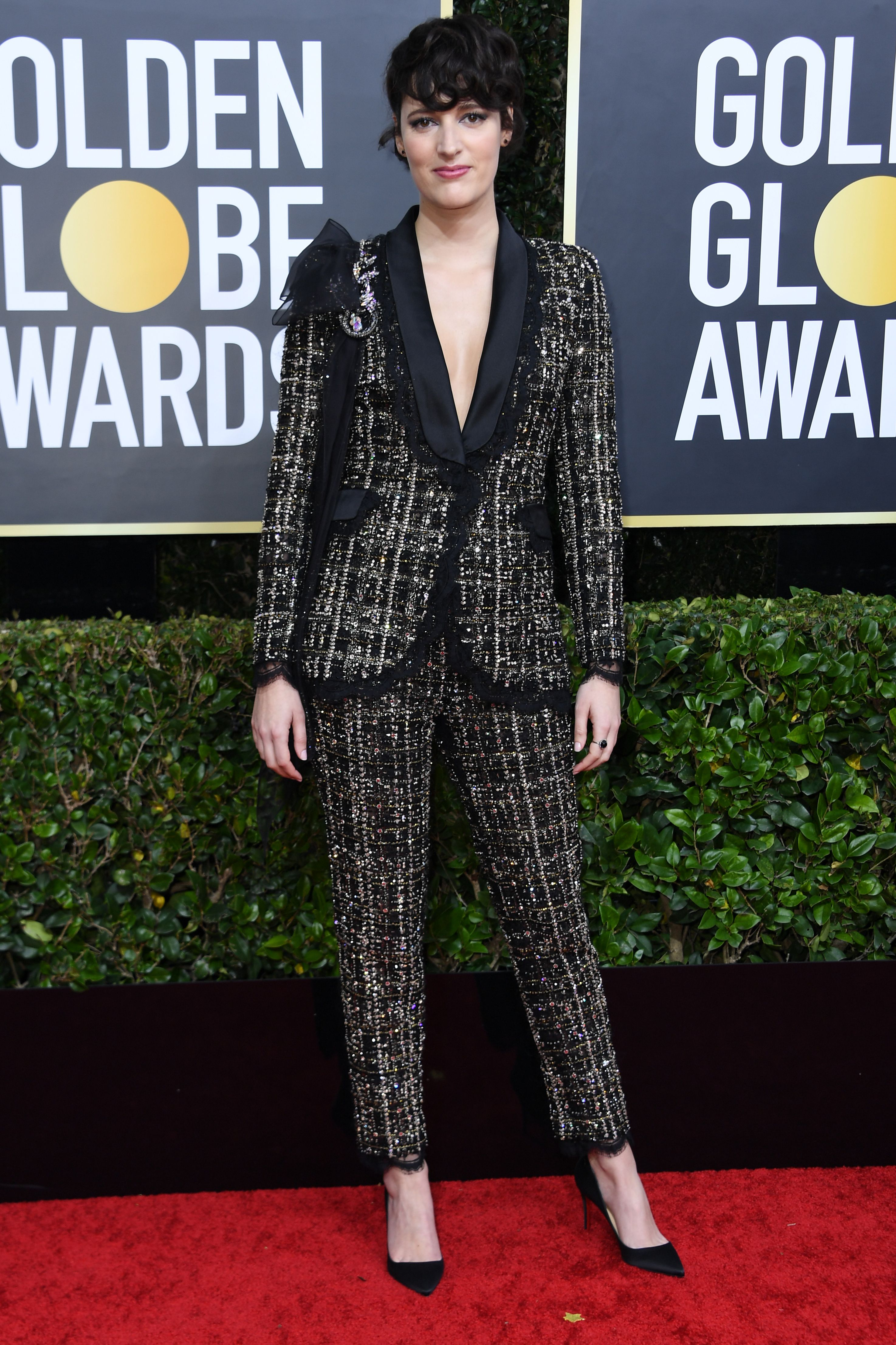 British actress Phoebe Waller-Bridge arrives for the 77th annual Golden Globe Awards on January 5, 2020, at The Beverly Hilton hotel in Beverly Hills, California. (Photo by VALERIE MACON / AFP) (Photo by VALERIE MACON/AFP via Getty Images)