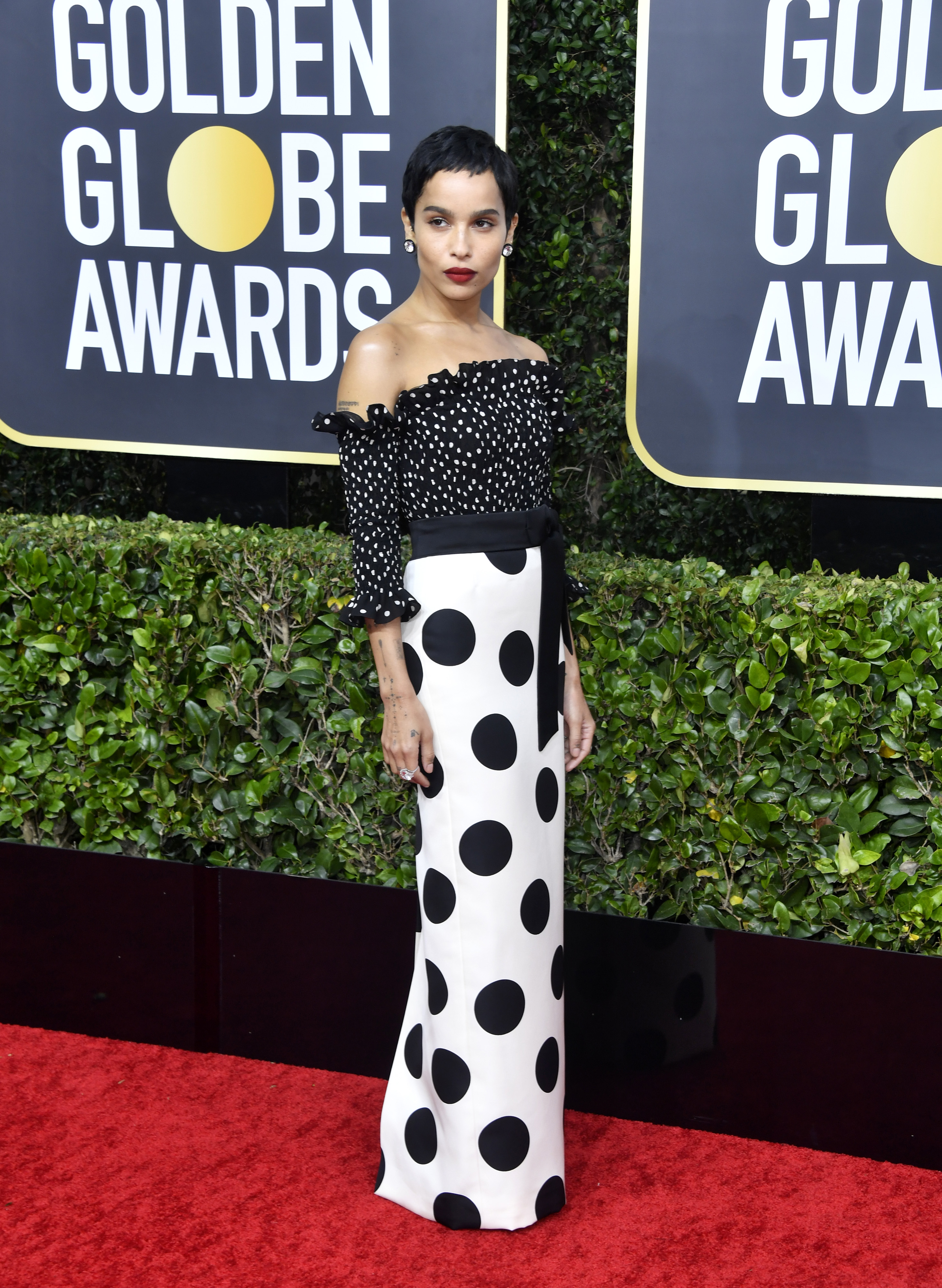 BEVERLY HILLS, CALIFORNIA - JANUARY 05: Zoë Kravitz attends the 77th Annual Golden Globe Awards at The Beverly Hilton Hotel on January 05, 2020 in Beverly Hills, California. (Photo by Frazer Harrison/Getty Images)