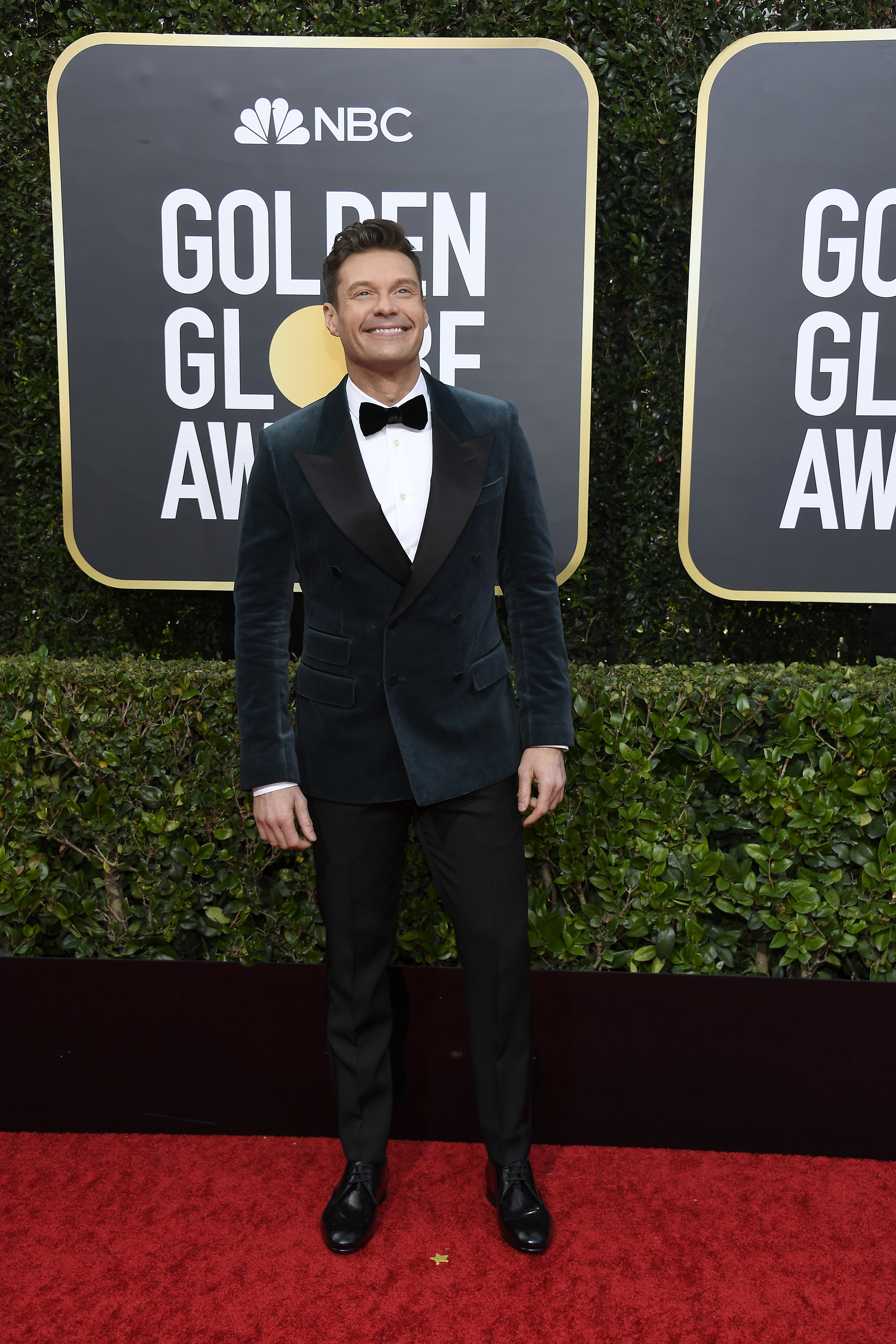 BEVERLY HILLS, CALIFORNIA - JANUARY 05: 77th ANNUAL GOLDEN GLOBE AWARDS -- Pictured: Ryan Seacrest arrives to the 77th Annual Golden Globe Awards held at the Beverly Hilton Hotel on January 5, 2020. -- (Photo by: Kevork Djansezian/NBC/NBCU Photo Bank via Getty Images)