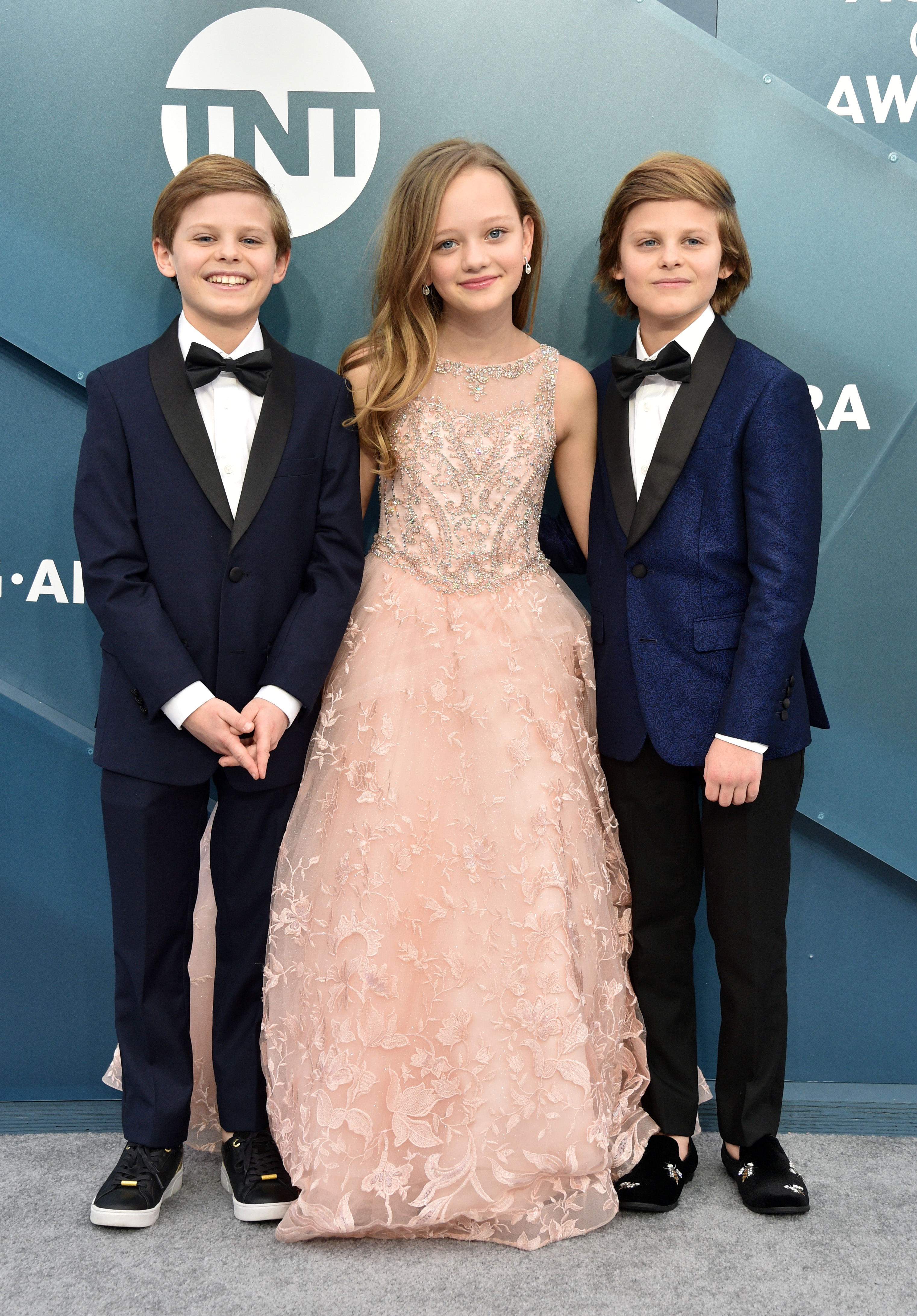 LOS ANGELES, CALIFORNIA - JANUARY 19: (L-R) Nicholas Crovetti, Ivy George, and Cameron Crovetti attend the 26th Annual Screen ActorsGuild Awards at The Shrine Auditorium on January 19, 2020 in Los Angeles, California. 721430 (Photo by Gregg DeGuire/Getty Images for Turner)