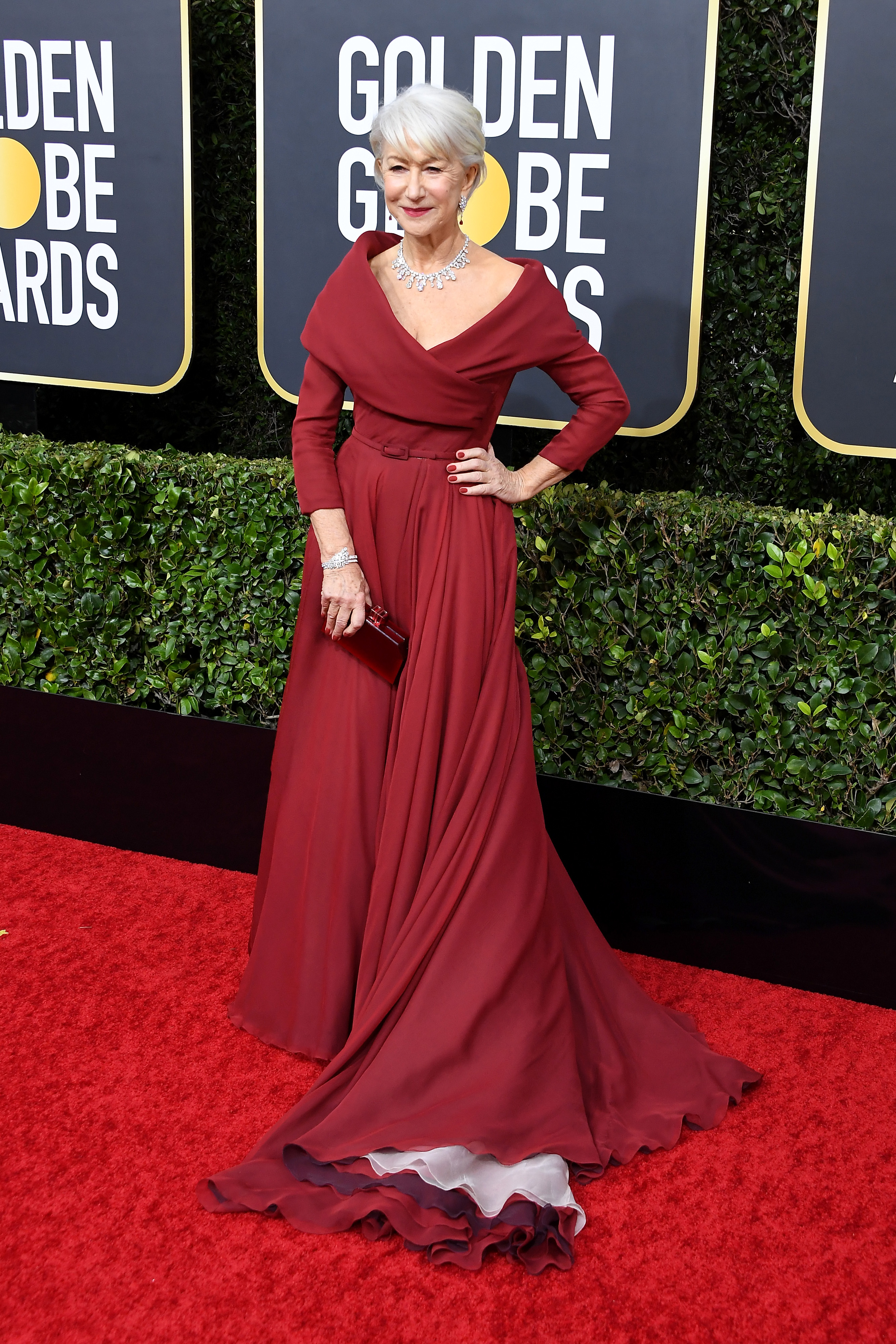 BEVERLY HILLS, CALIFORNIA - JANUARY 05: Helen Mirren attends the 77th Annual Golden Globe Awards at The Beverly Hilton Hotel on January 05, 2020 in Beverly Hills, California. (Photo by Steve Granitz/WireImage)