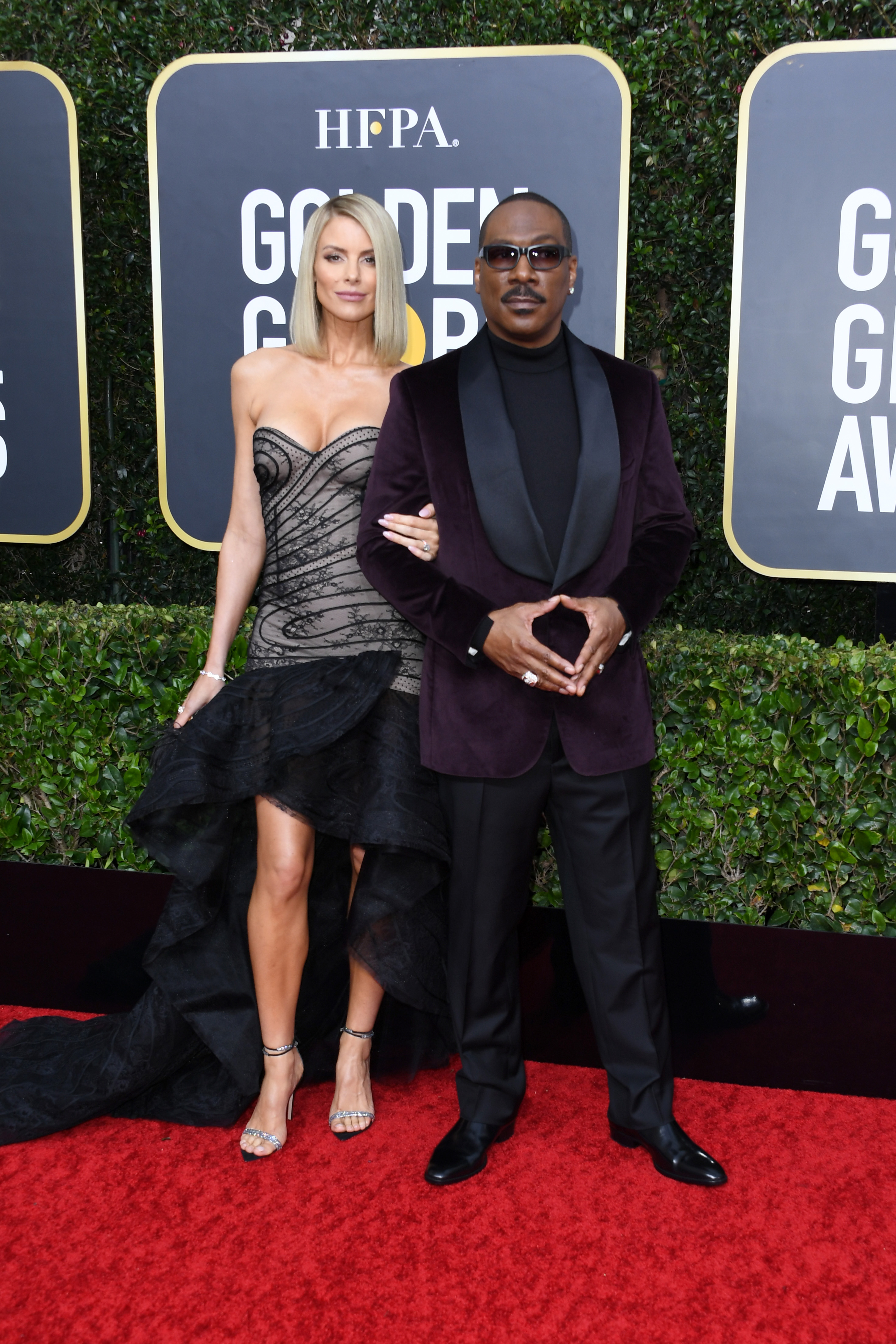 BEVERLY HILLS, CALIFORNIA - JANUARY 05: Paige Butcher (L) and Eddie Murphy attend the 77th Annual Golden Globe Awards at The Beverly Hilton Hotel on January 05, 2020 in Beverly Hills, California. (Photo by Jon Kopaloff/Getty Images)