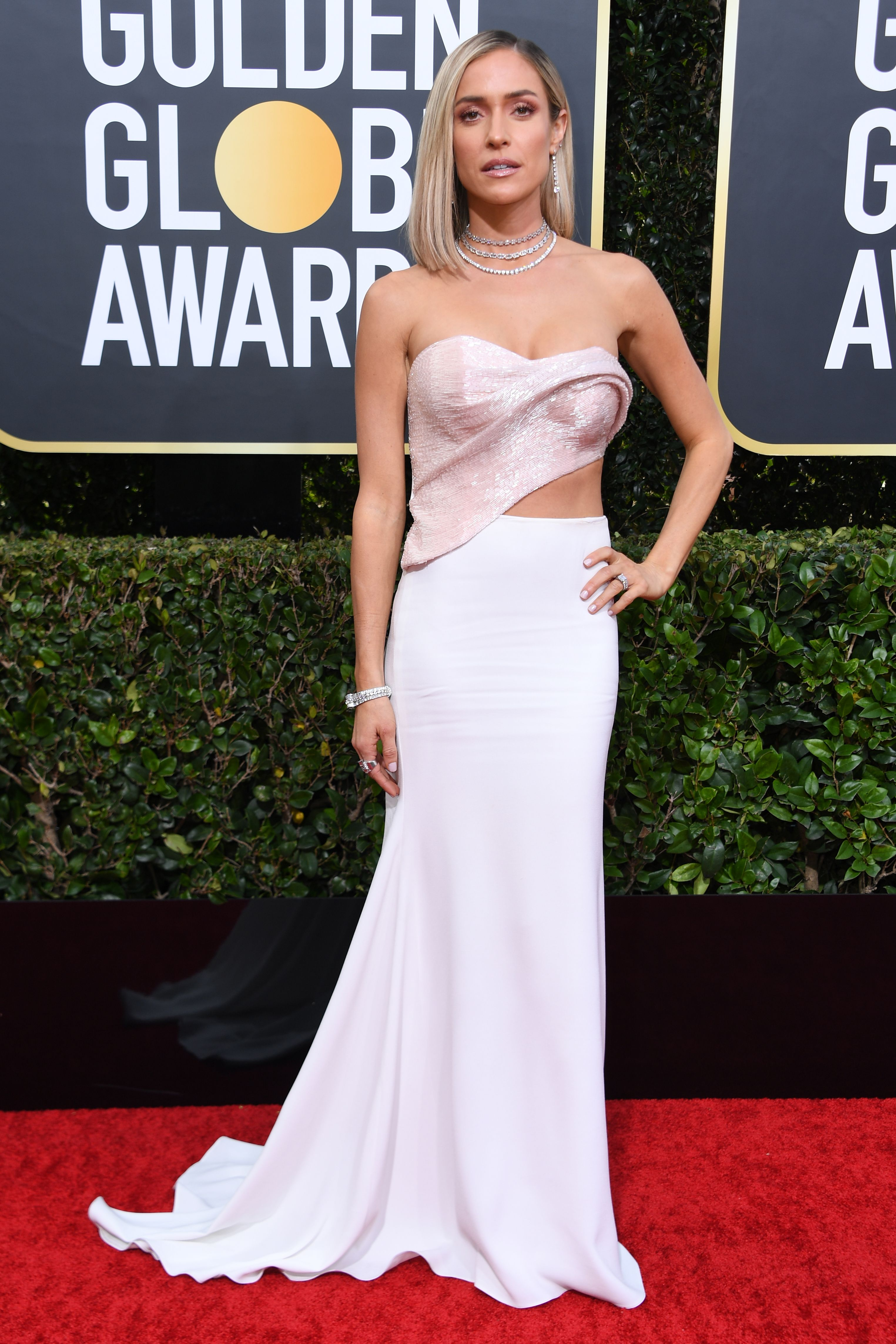 US television personality Kristin Cavallari arrives for the 77th annual Golden Globe Awards on January 5, 2020, at The Beverly Hilton hotel in Beverly Hills, California. (Photo by VALERIE MACON / AFP) (Photo by VALERIE MACON/AFP via Getty Images)